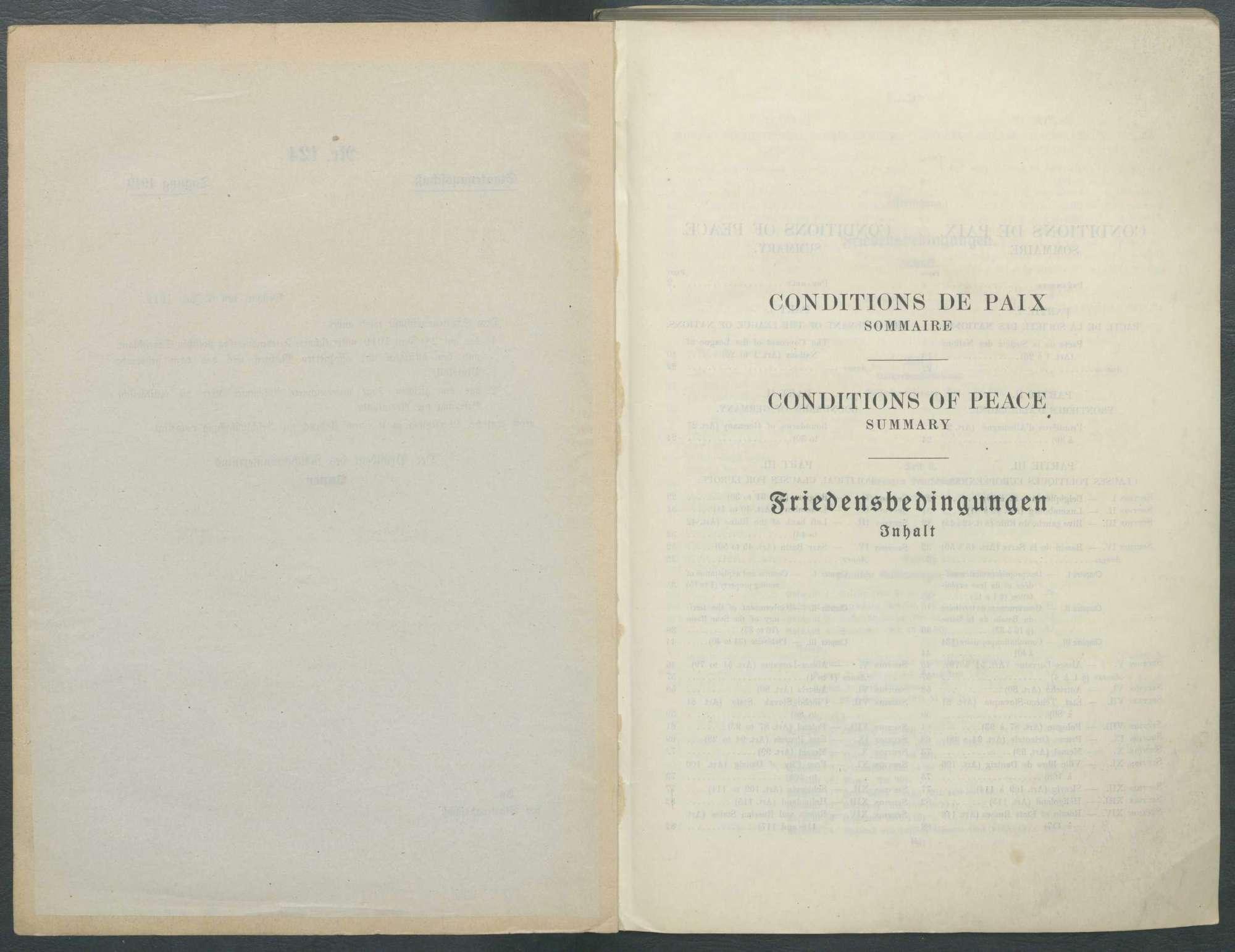 Wortlaut des Friedensvertrags von Versailles, Bild 3