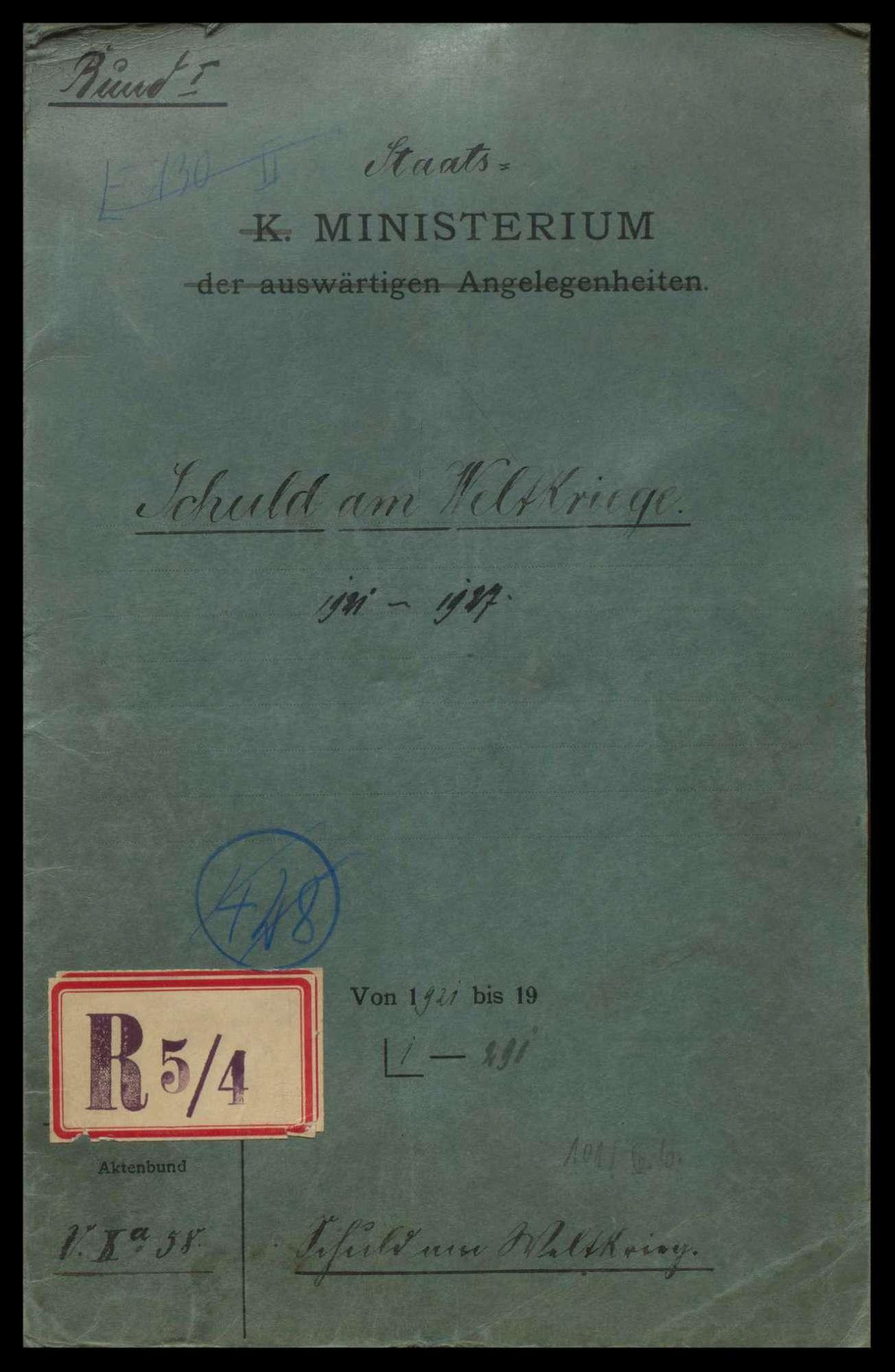 Kriegsschuldfrage, Bild 1