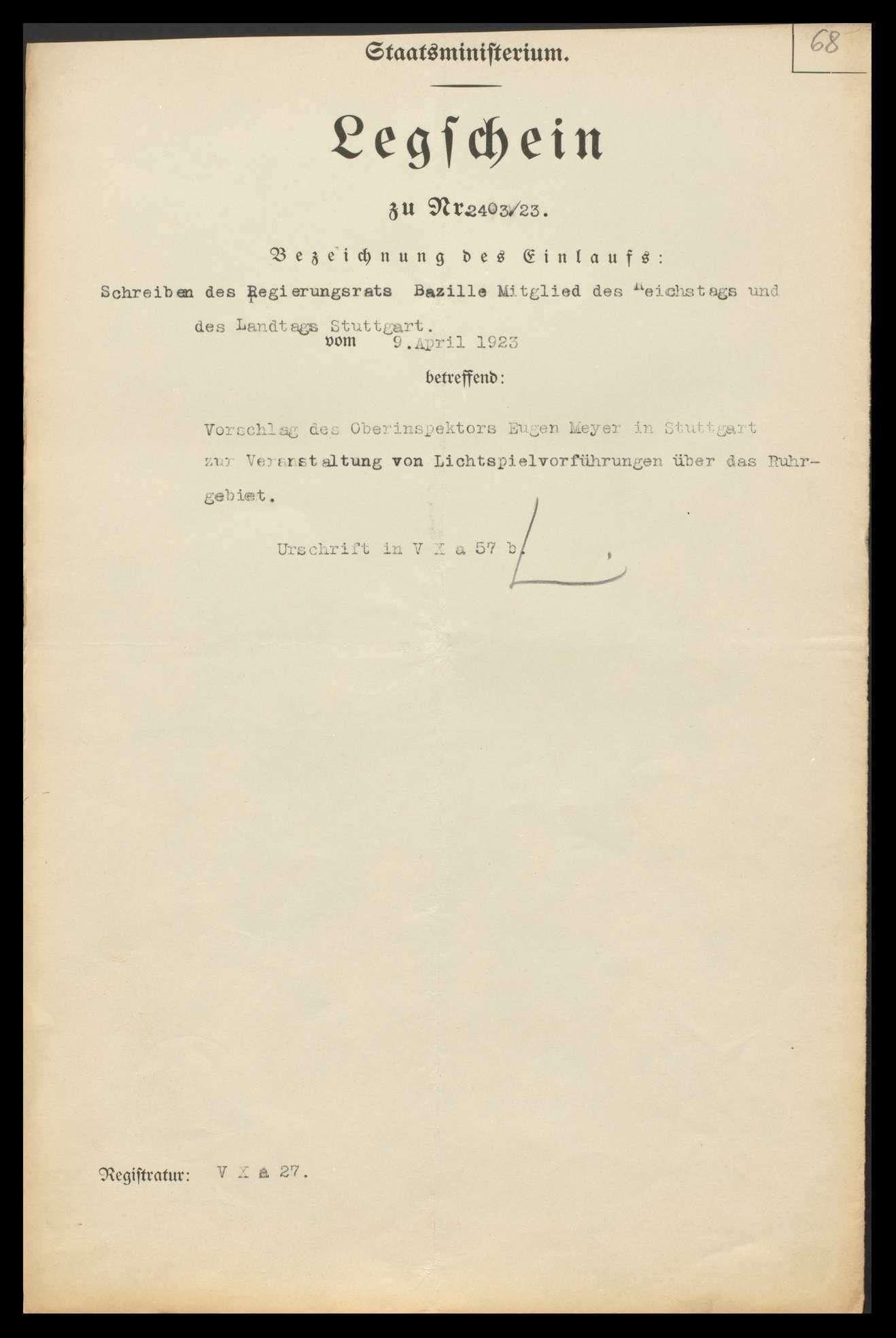 Reichszentrale für Heimatdienst, Landesabteilung Württemberg-Hohenzollern, Bild 1