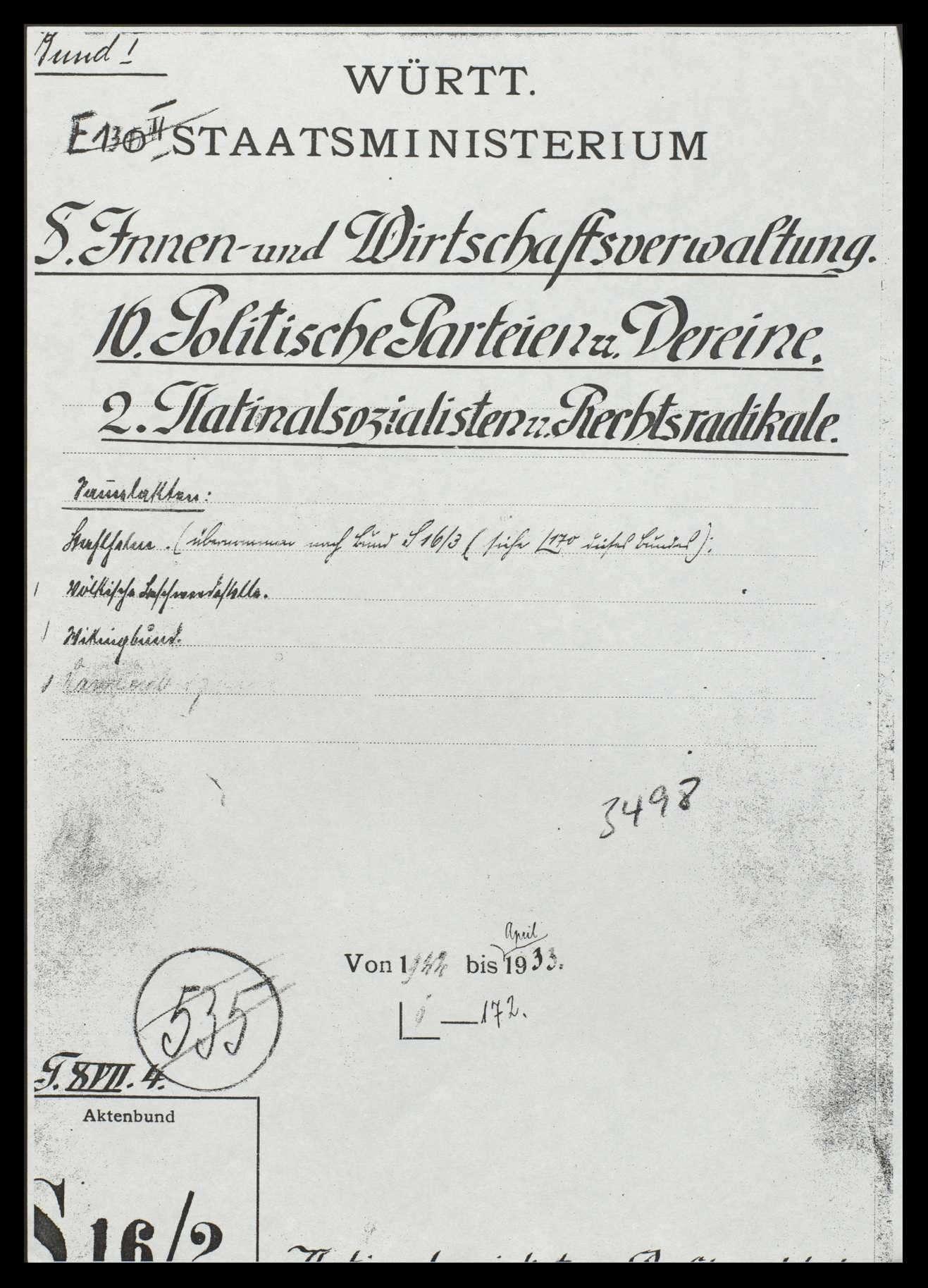 Versammlungen, Agitationen und andere Tätigkeiten der Nationalsozialisten, Bild 1