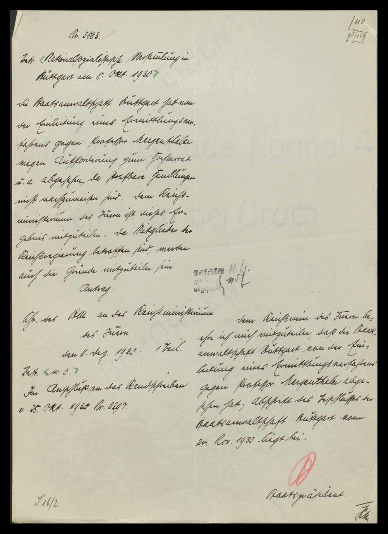 Versammlungen, Agitationen und andere Tätigkeiten der Nationalsozialisten, Bild 2
