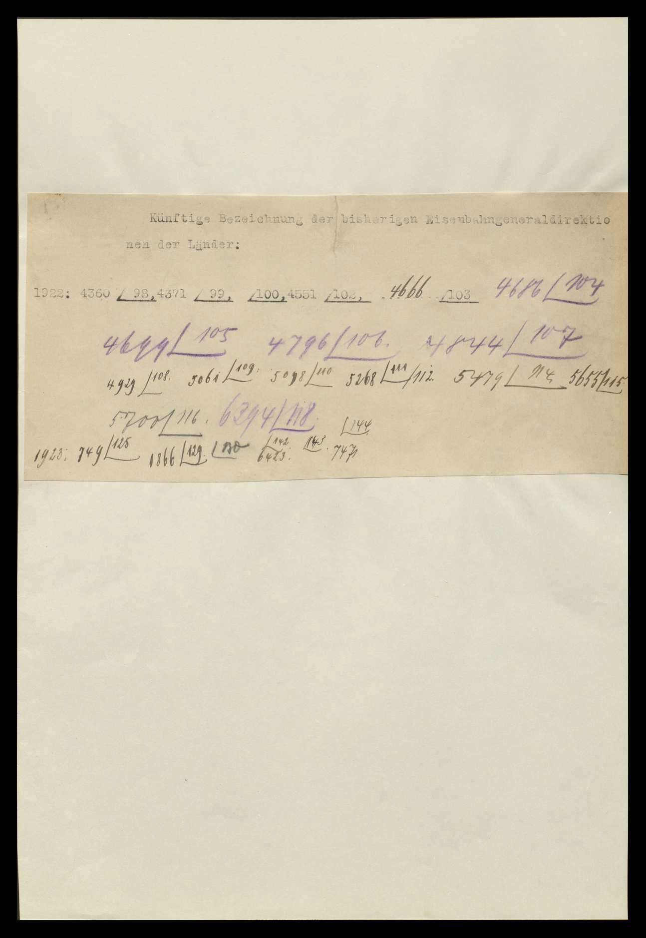 Eisenbahndirektionen und Eisenbahn-Generaldirektionen sowie Reichsbahndirektionen, Bild 1