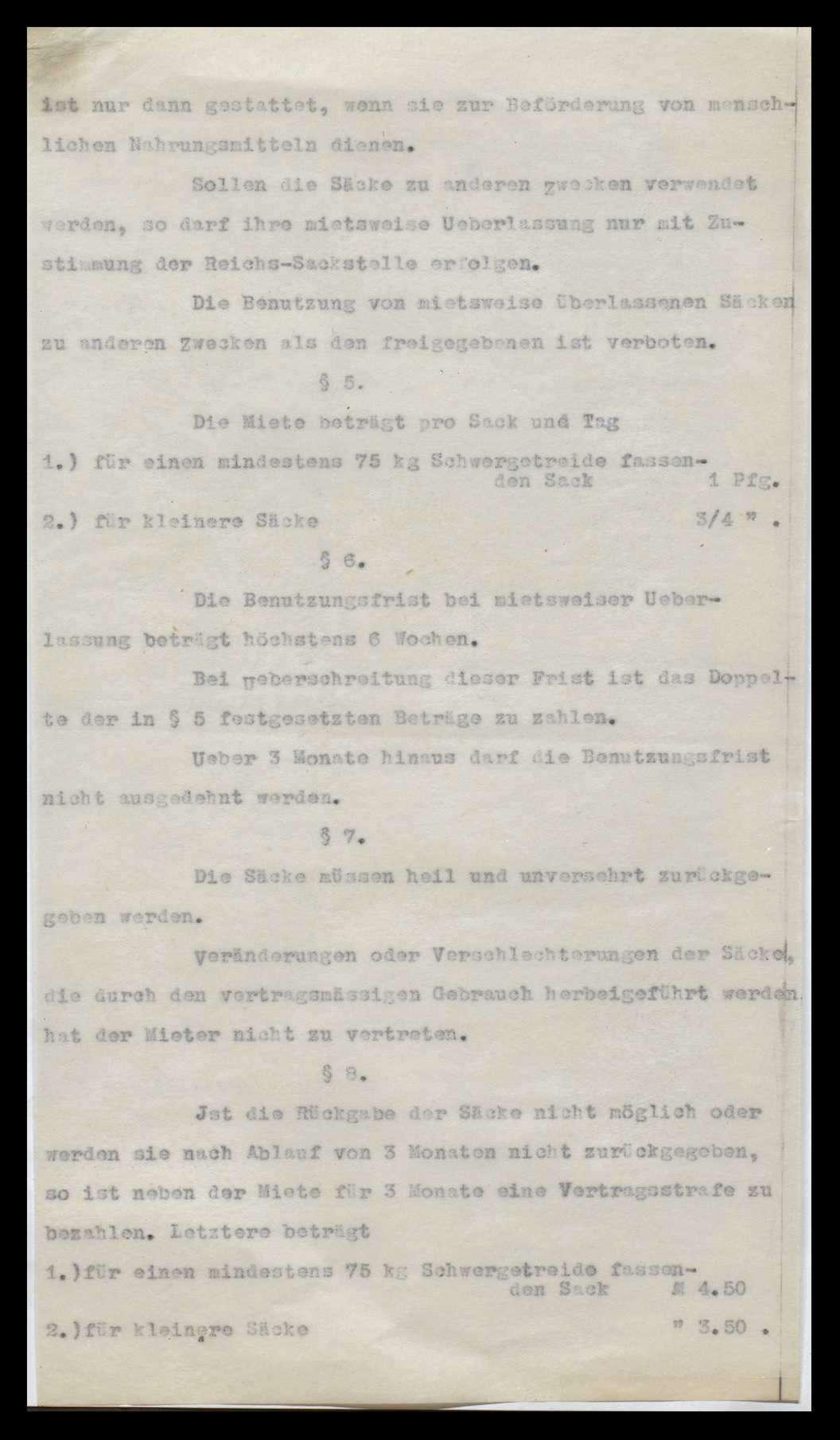 Reichssackstelle, Verkehr mit Säcken, Bild 1