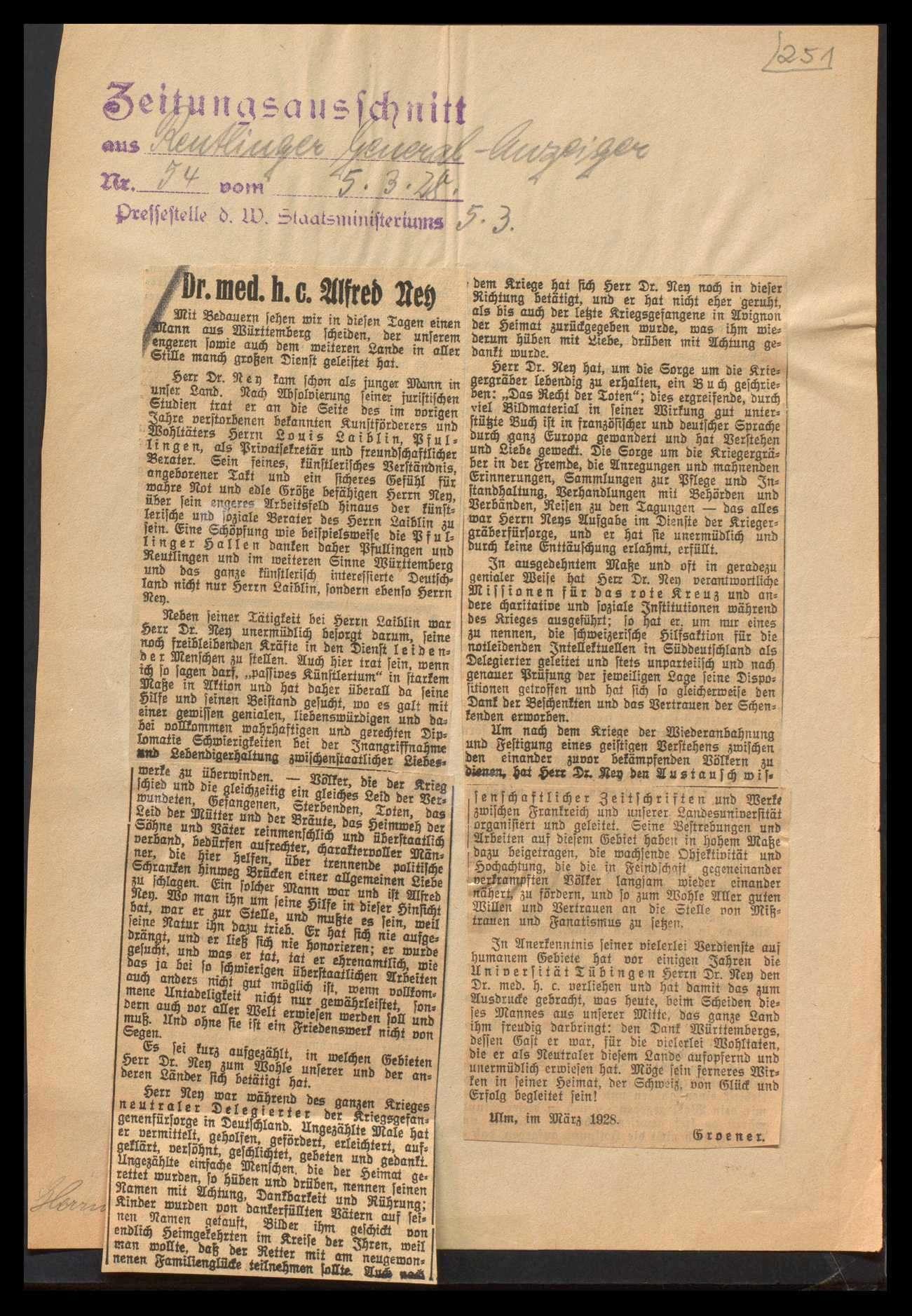 Bemühungen um Freilassung der kriegsgerichtlich bestraften deutschen Kriegsgefangenen in Avignon und ihre Rückkehr, Bild 3