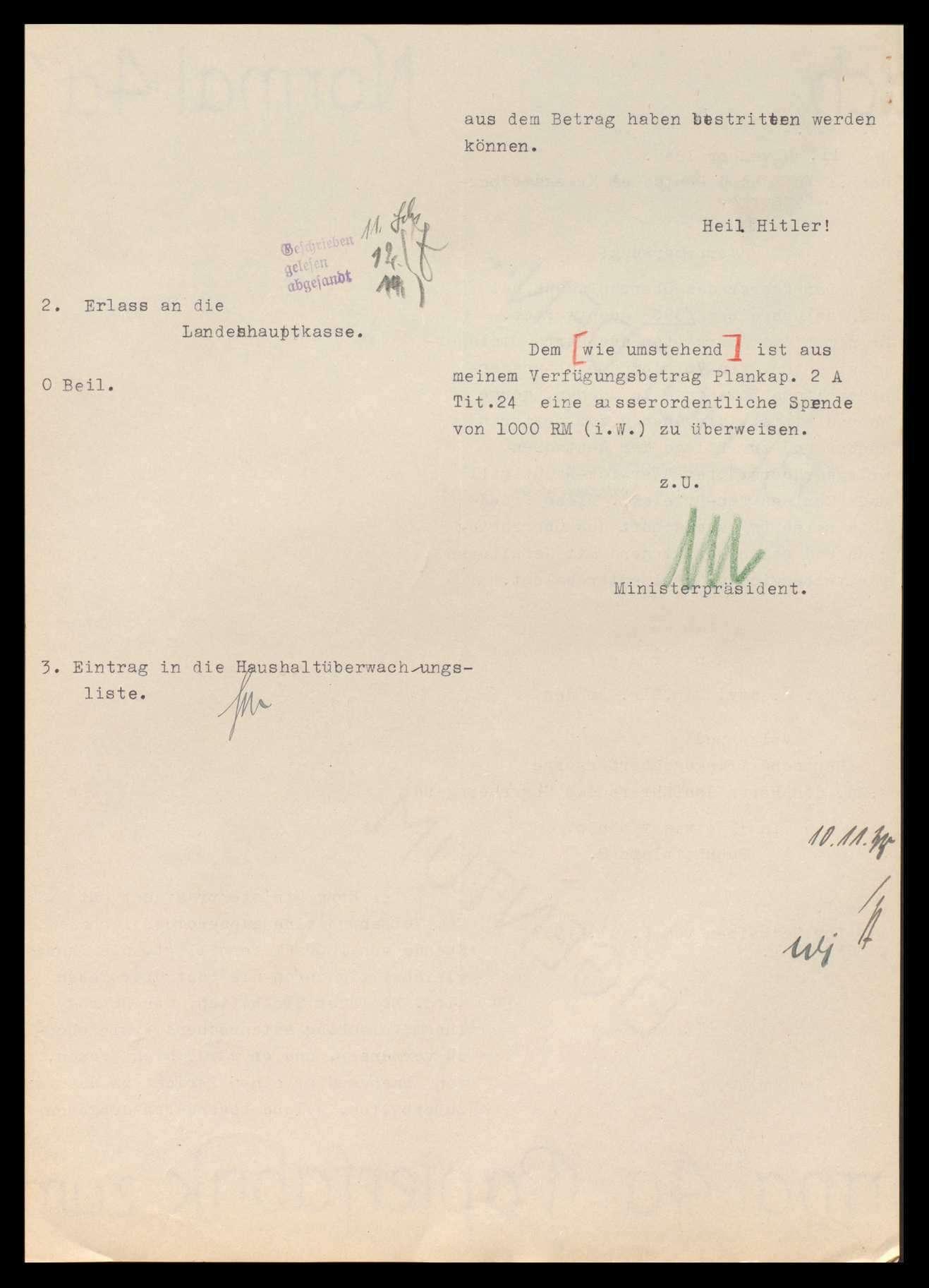 Volksbund Deutsche Kriegsgräberfürsorge in Berlin sowie Landesverband (ab 1934 Bezirk) Württemberg, Ortsgruppe Stuttgart und Oberrheingau, Bild 3
