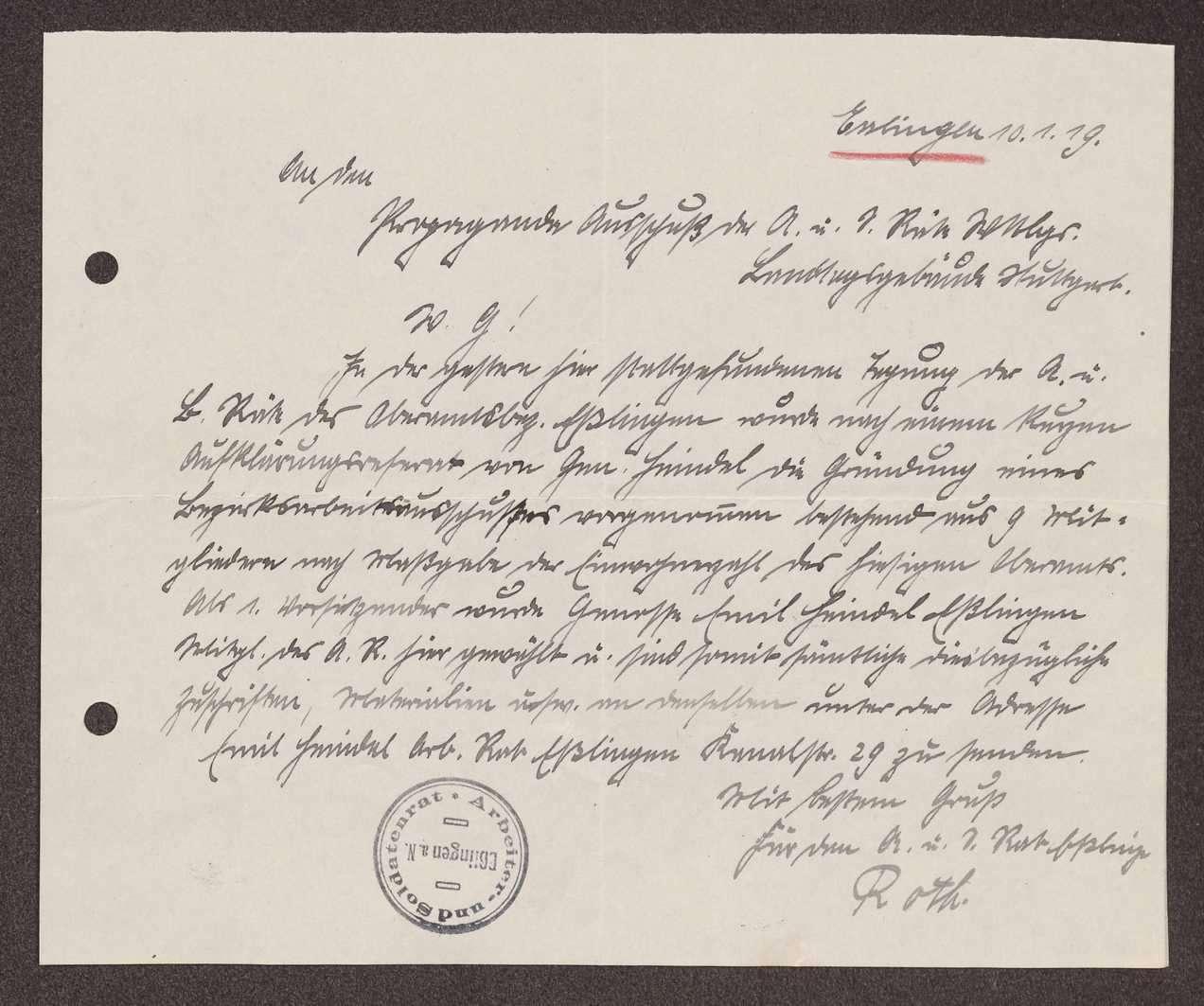 Wahl, Zusammensetzung und Auflösung der Arbeiter- und Bauernräte im Oberamt Esslingen, Bild 2
