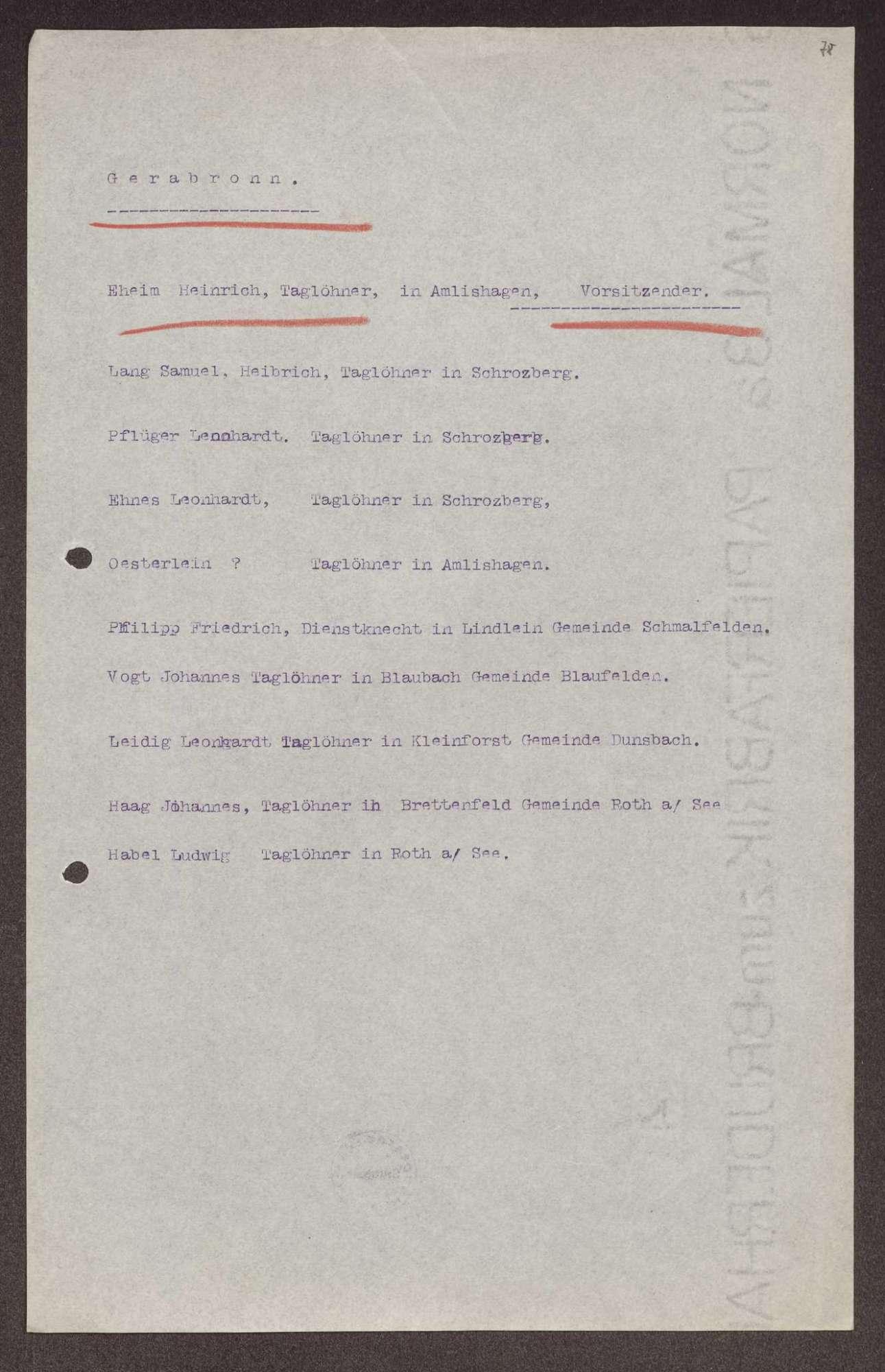 Wahl, Zusammensetzung und Auflösung der Arbeiter- und Bauernräte im Oberamt Gerabronn, Bild 3
