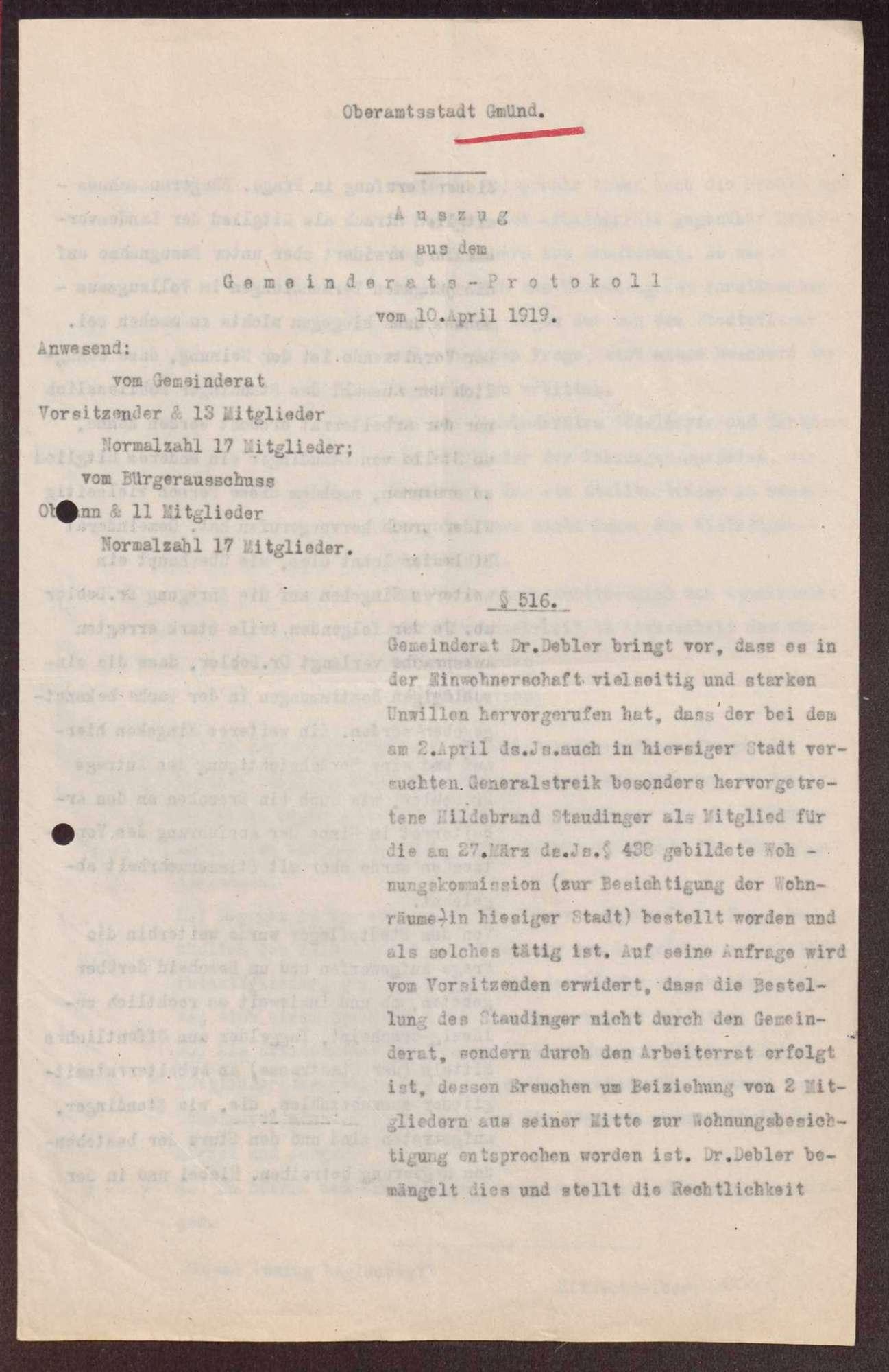 Wahl, Zusammensetzung und Auflösung der Arbeiter- und Bauernräte im Oberamt Gmünd, Bild 2
