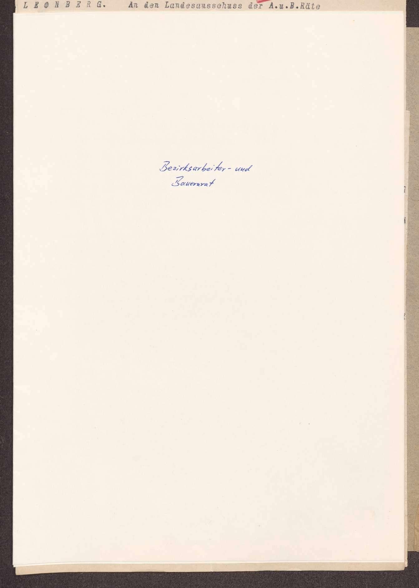 Wahl, Zusammensetzung und Auflösung der Arbeiter- und Bauernräte im Oberamt Leonberg, Bild 1