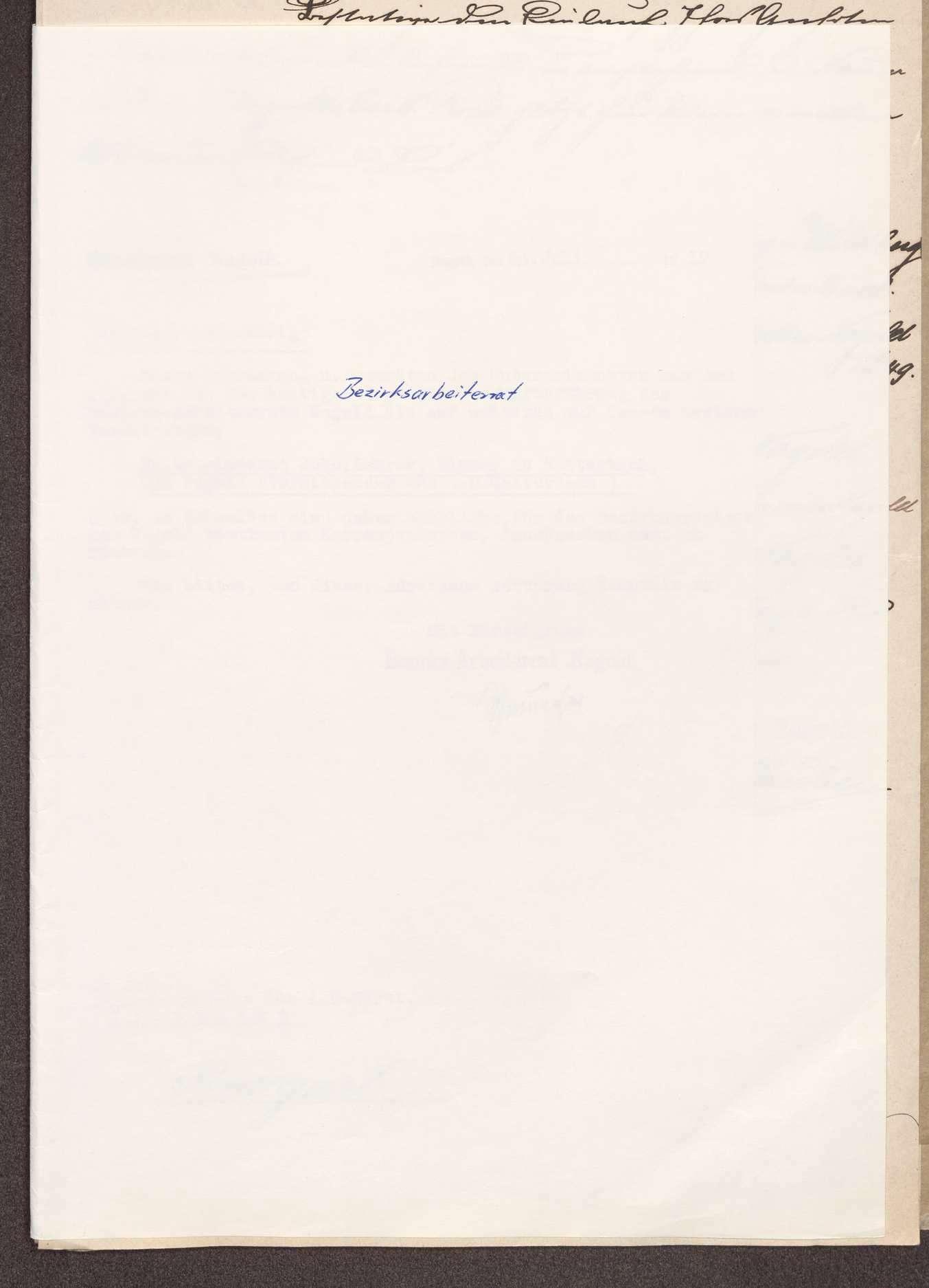 Wahl, Zusammensetzung und Auflösung der Arbeiter- und Bauernräte im Oberamt Nagold, Bild 1