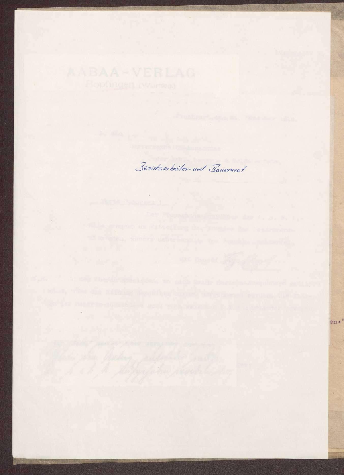 Wahl, Zusammensetzung und Auflösung der Arbeiter- und Bauernräte im Oberamt Neresheim, Bild 1