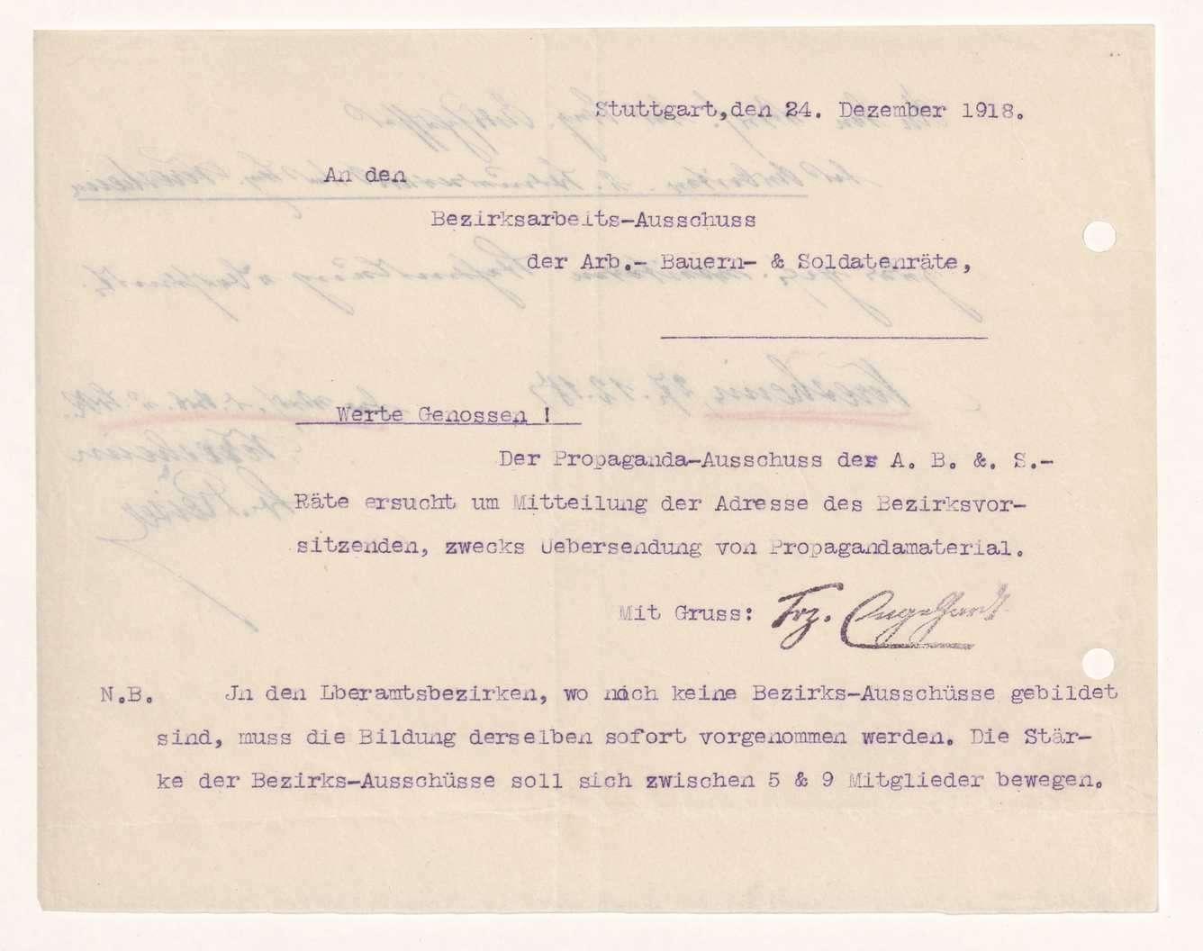 Wahl, Zusammensetzung und Auflösung der Arbeiter- und Bauernräte im Oberamt Neresheim, Bild 2