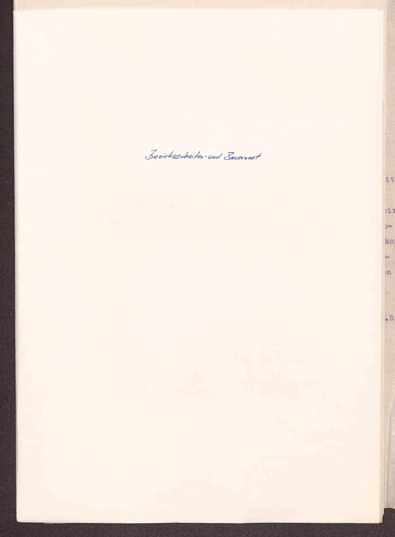 Wahl, Zusammensetzung und Auflösung der Arbeiter- und Bauernräte im Oberamt Spaichingen, Bild 1