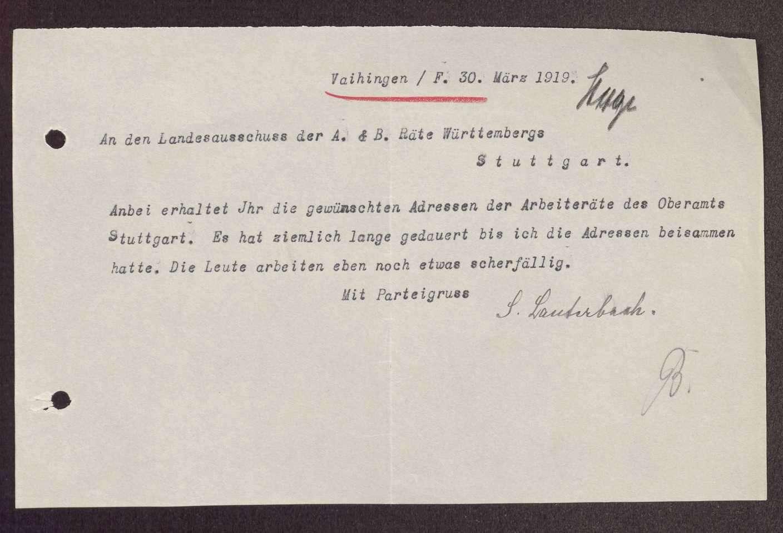 Wahl, Zusammensetzung und Auflösung der Arbeiter- und Bauernräte im Amtsoberamt Stuttgart, Bild 3