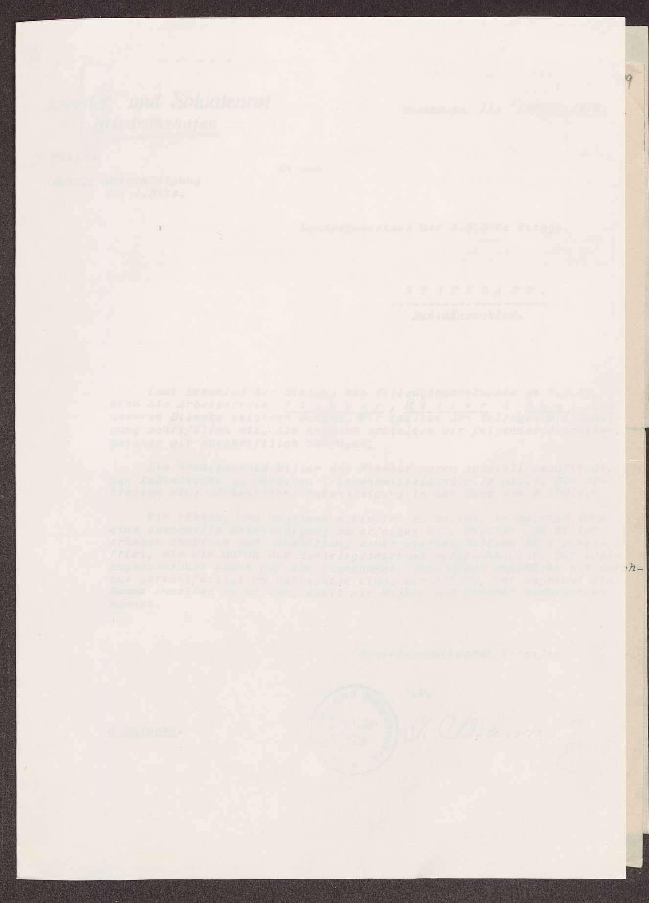 Wahl, Zusammensetzung und Auflösung der Arbeiter- und Bauernräte im Oberamt Tettnang, Bild 3