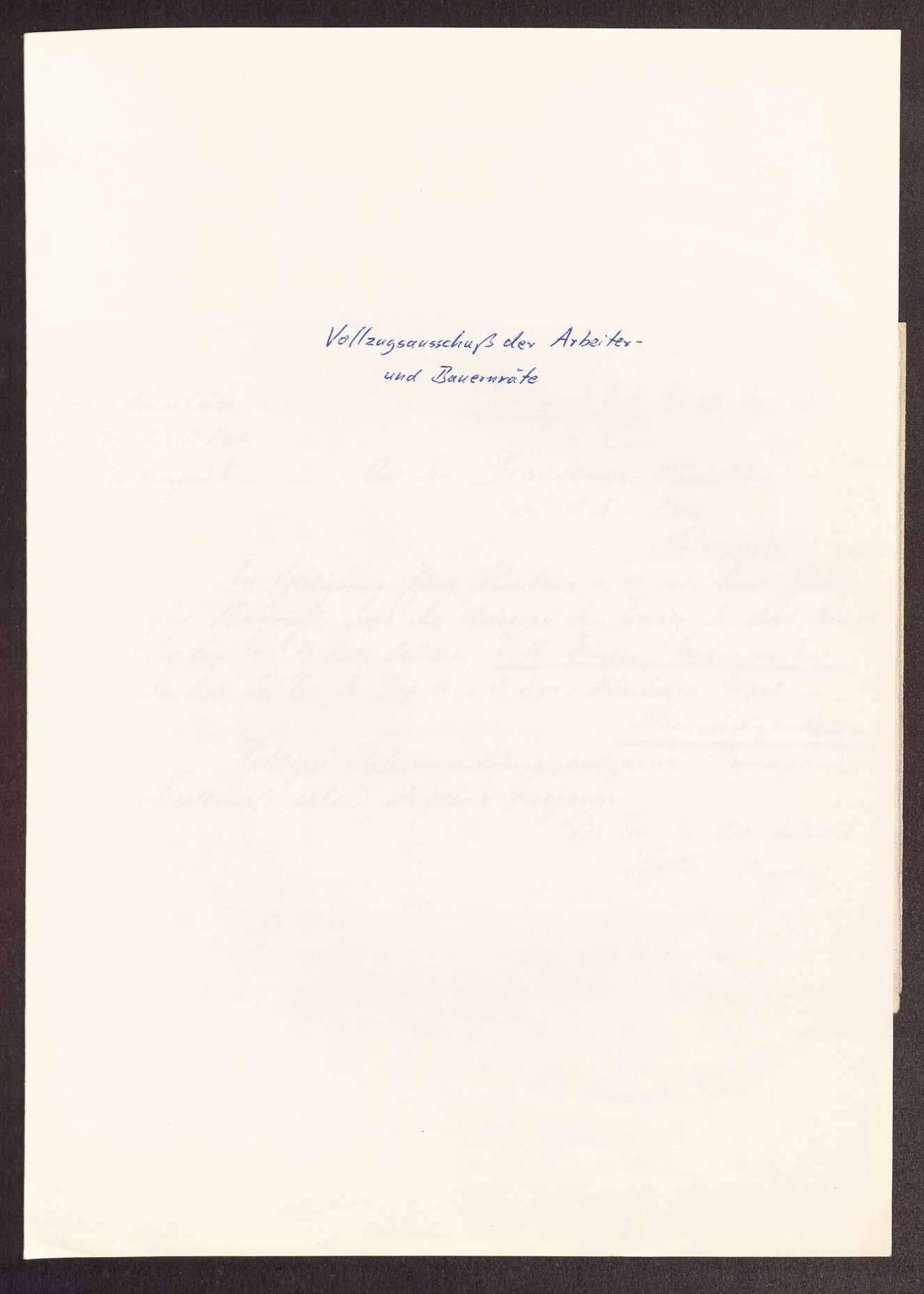 Wahl, Zusammensetzung und Auflösung der Arbeiter- und Bauernräte im Oberamt Vaihingen, Bild 1