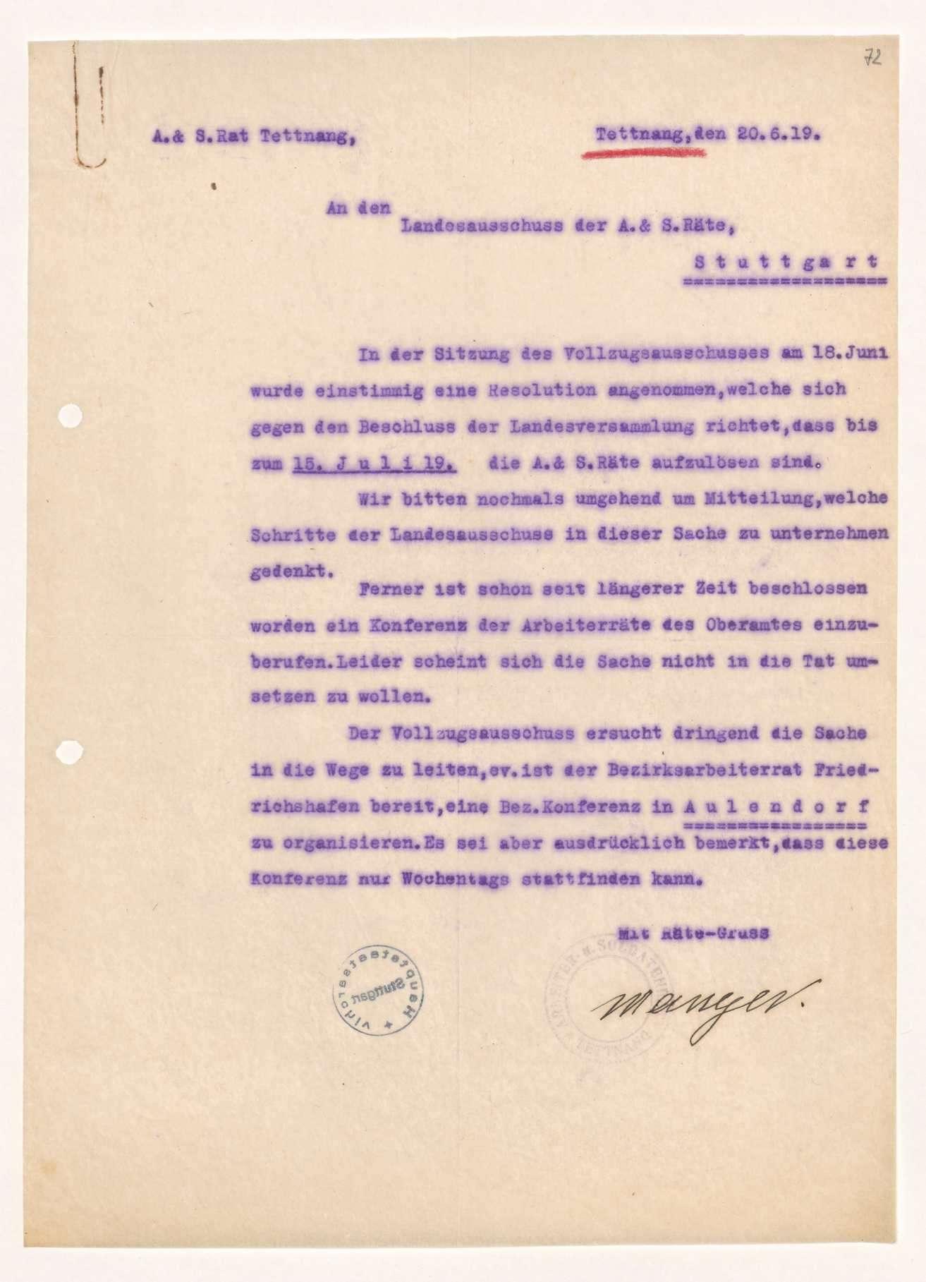 Versammlungen örtlicher Arbeiterräte, teilweise unter Mitwirkung des Ladensausschusses, Bild 2