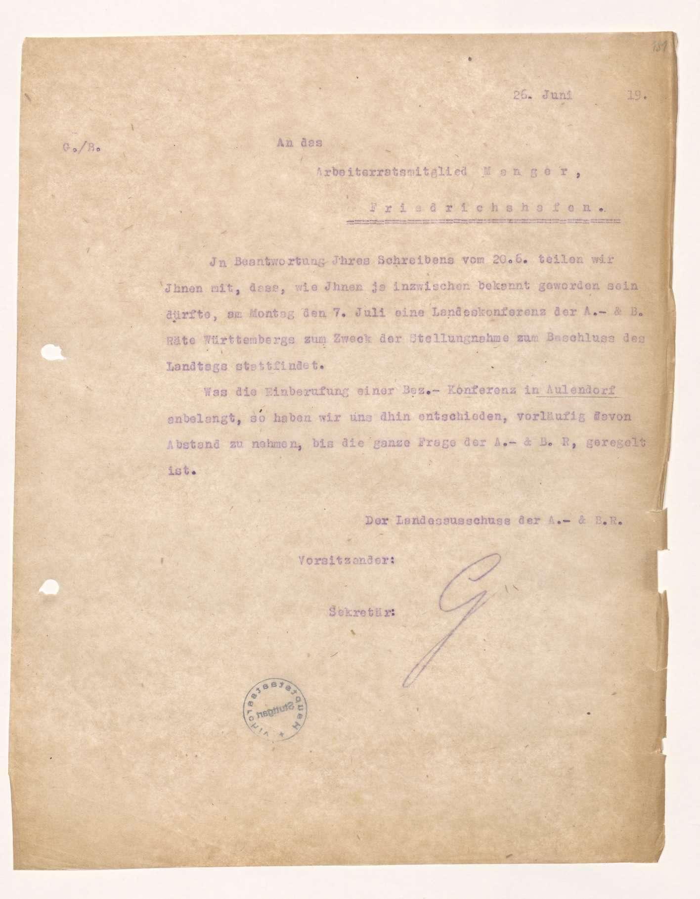 Versammlungen örtlicher Arbeiterräte, teilweise unter Mitwirkung des Ladensausschusses, Bild 3