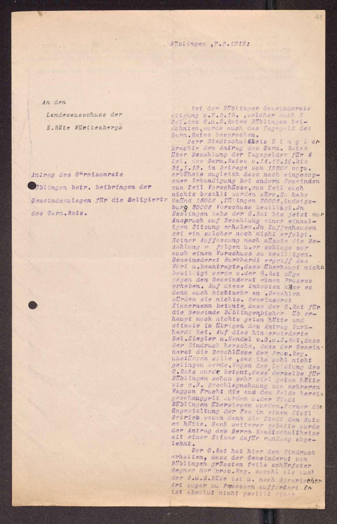 Finanzierung und Rechnungslegung örtlicher Arbeiter- und Bauernräte im Oberamt Böblingen, Bild 3