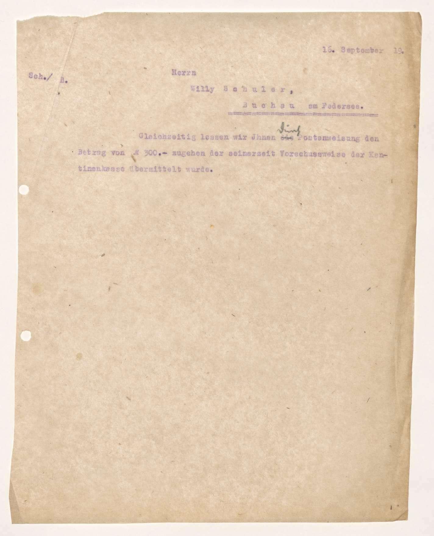 Finanzierung und Rechnungslegung örtlicher Arbeiter- und Bauernräte im Oberamt Riedlingen, Bild 3