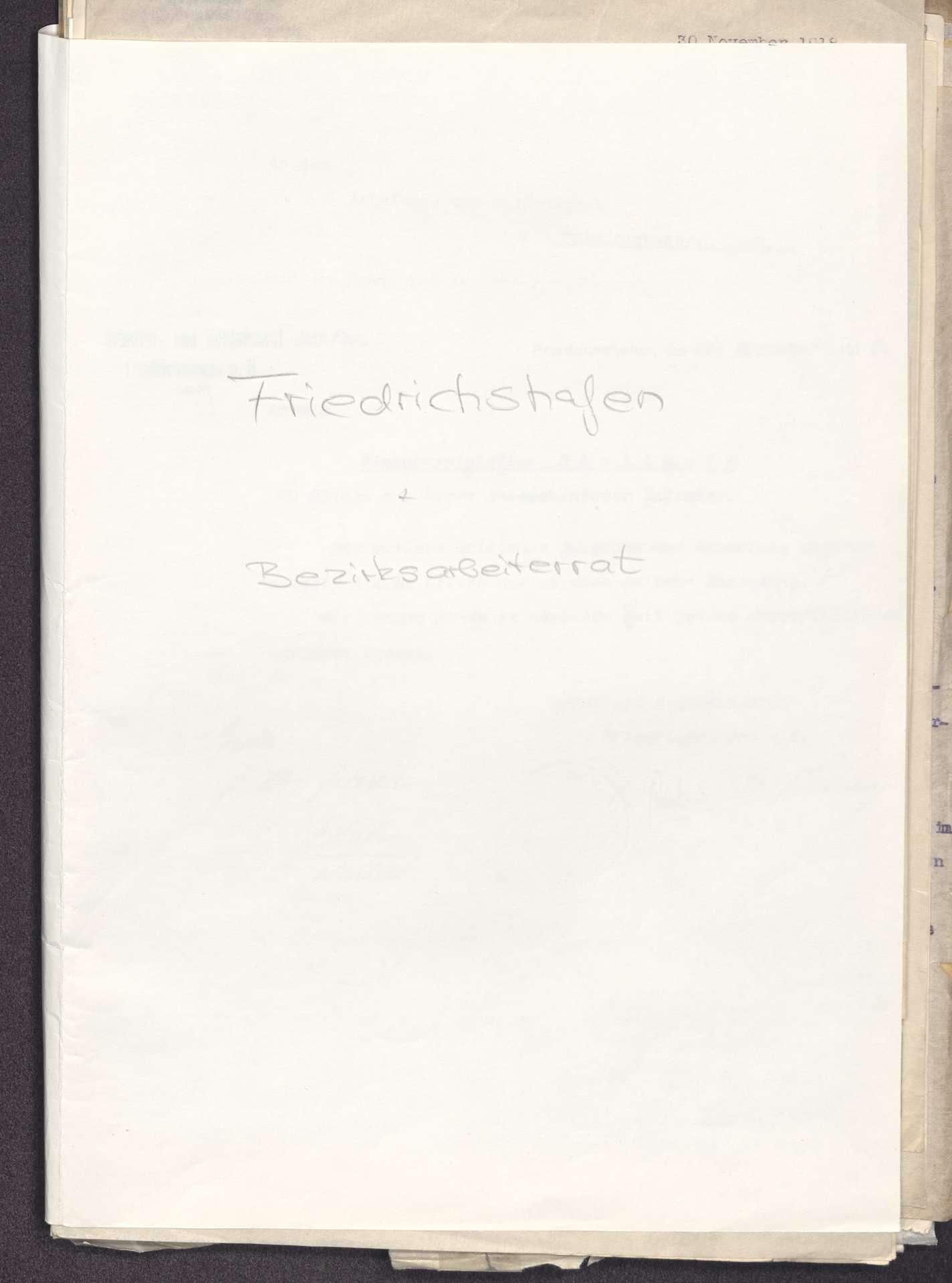 Finanzierung und Rechnungslegung örtlicher Arbeiter- und Bauernräte im Oberamt Tettnang, Bild 1