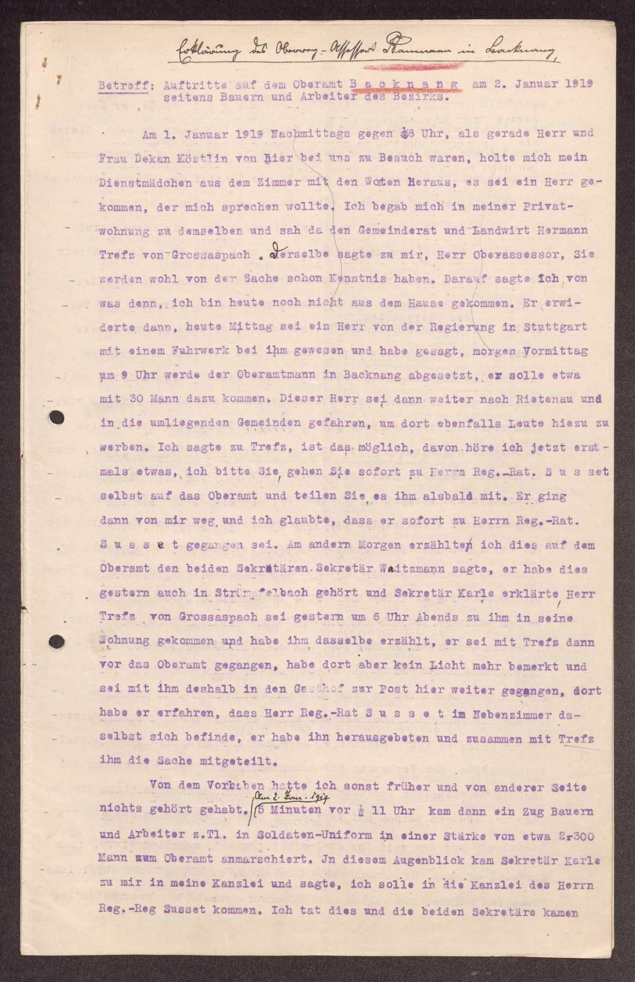 Auseinandersetzung mit Oberämtern und Gemeindeverwaltungen wegen deren Amtsführung, Bild 2