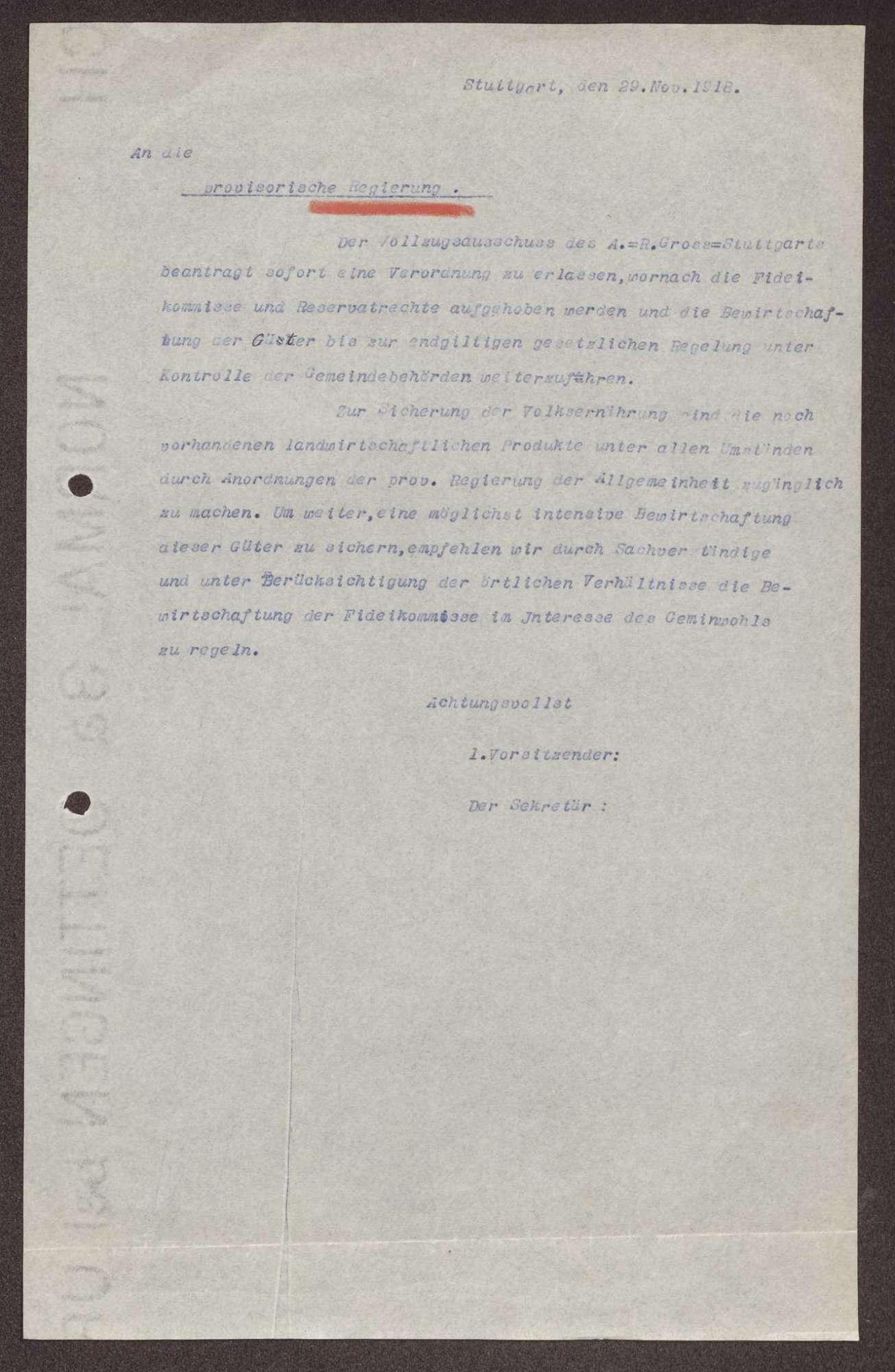 Aufhebung der Fideikommisse, Bild 1