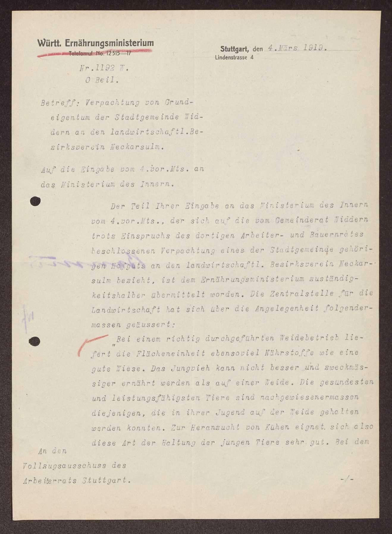 Verpachtung von Gemeindebesitz in Widdern, Bild 3