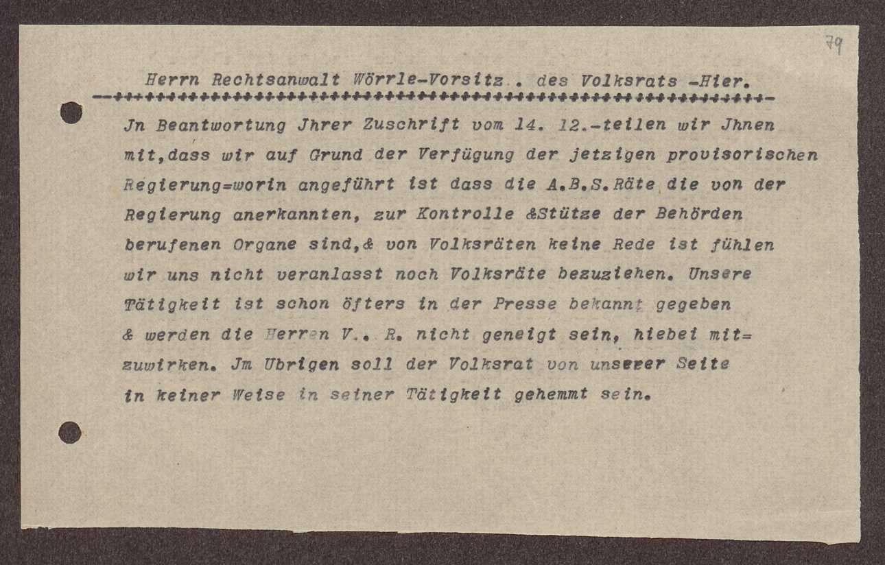 Volksrat im Oberamtsbezirk Ravensburg und Antrag desselben auf Teilnahme an Besprechungen des Oberbürgermeisters, Bild 3