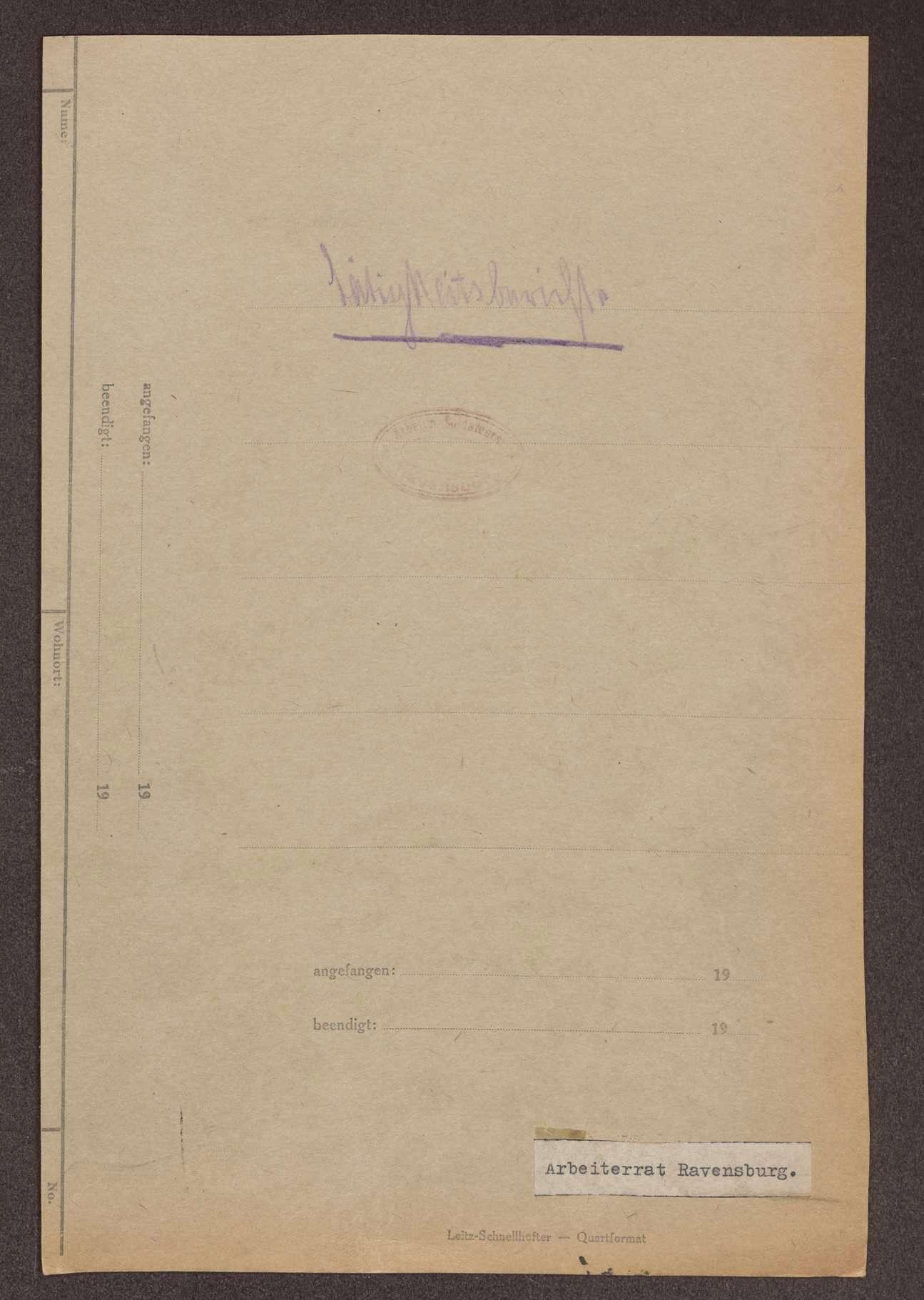 Tätigkeitsberichte des Arbeiterrats Ravensburg und der Arbeiterräte in der Umgebung von Ravensburg, Bild 2