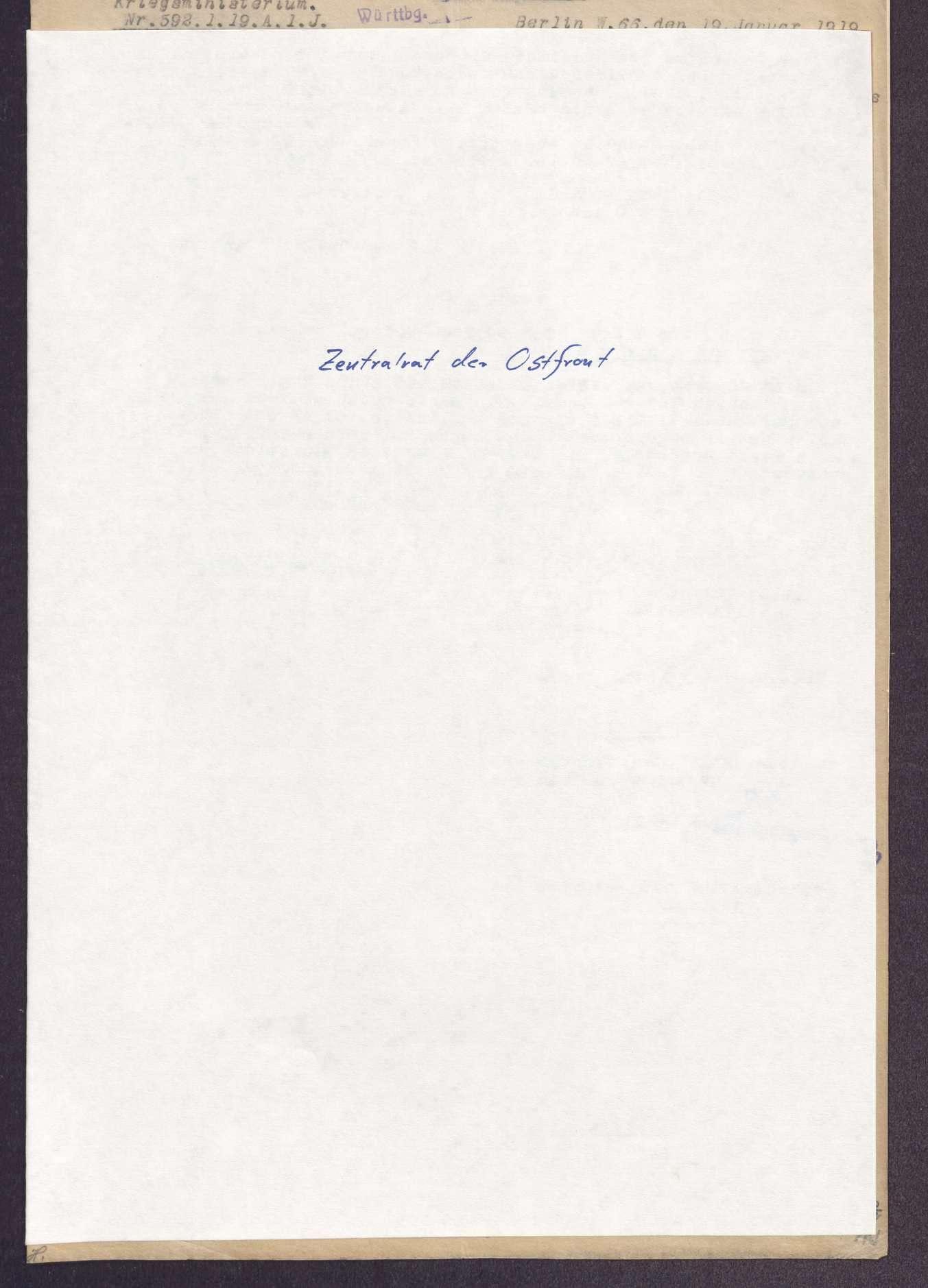 Berichterstattung über Konferenzen auswärtiger Korps-Soldatenräte, Bild 1