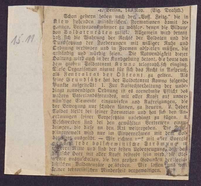 Berichterstattung über Konferenzen auswärtiger Korps-Soldatenräte, Bild 2