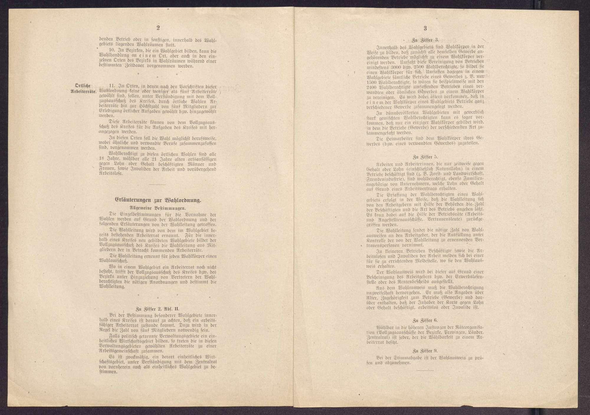 Wahlordnung und Organisationsstatut des Zentralrats der deutschen Arbeiterräte, Bild 2