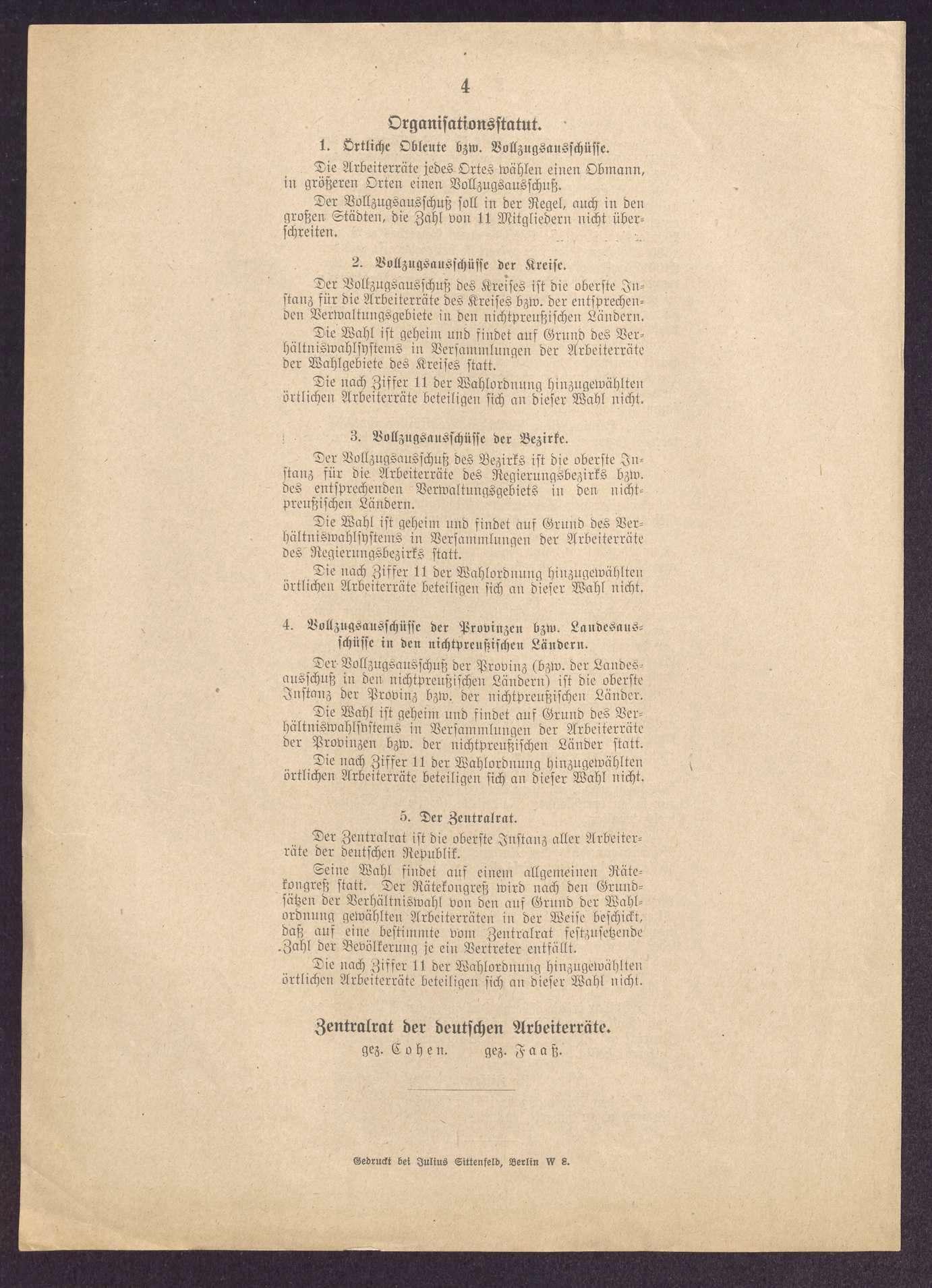Wahlordnung und Organisationsstatut des Zentralrats der deutschen Arbeiterräte, Bild 3