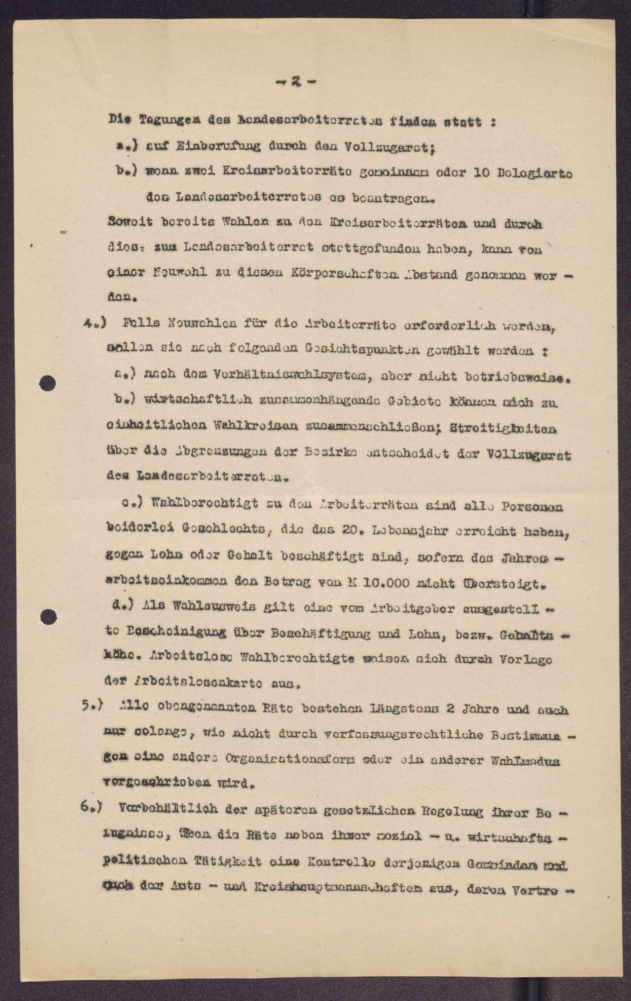 Organisationsentwurf für die Arbeiterräte, Kreisarbeiterräte und den Landessrat in Sachsen, Bild 2