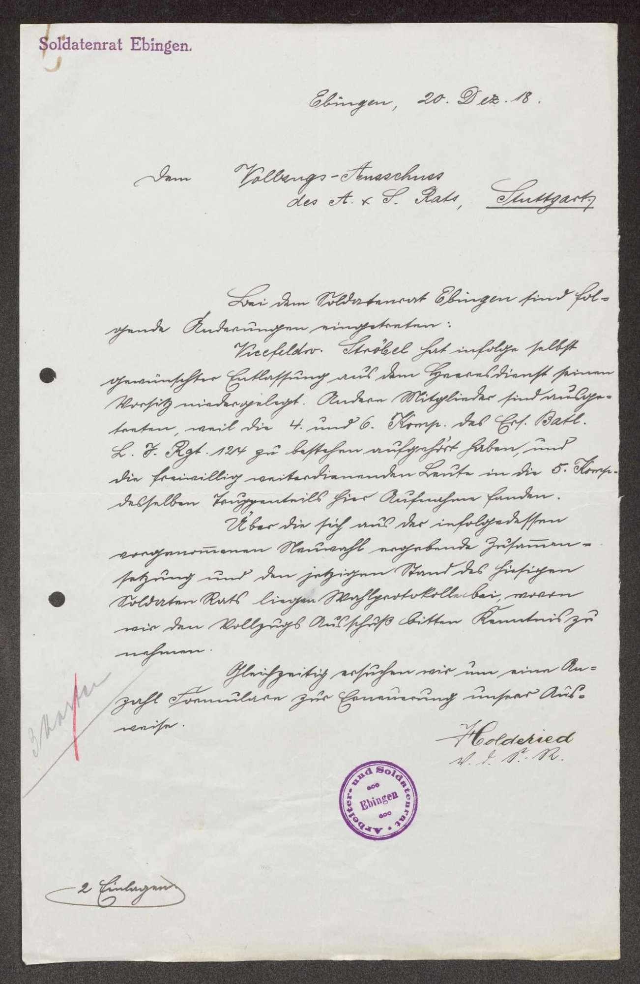 Garnisonsrat Ebingen: Wahl und Zusammensetzung, Bild 3