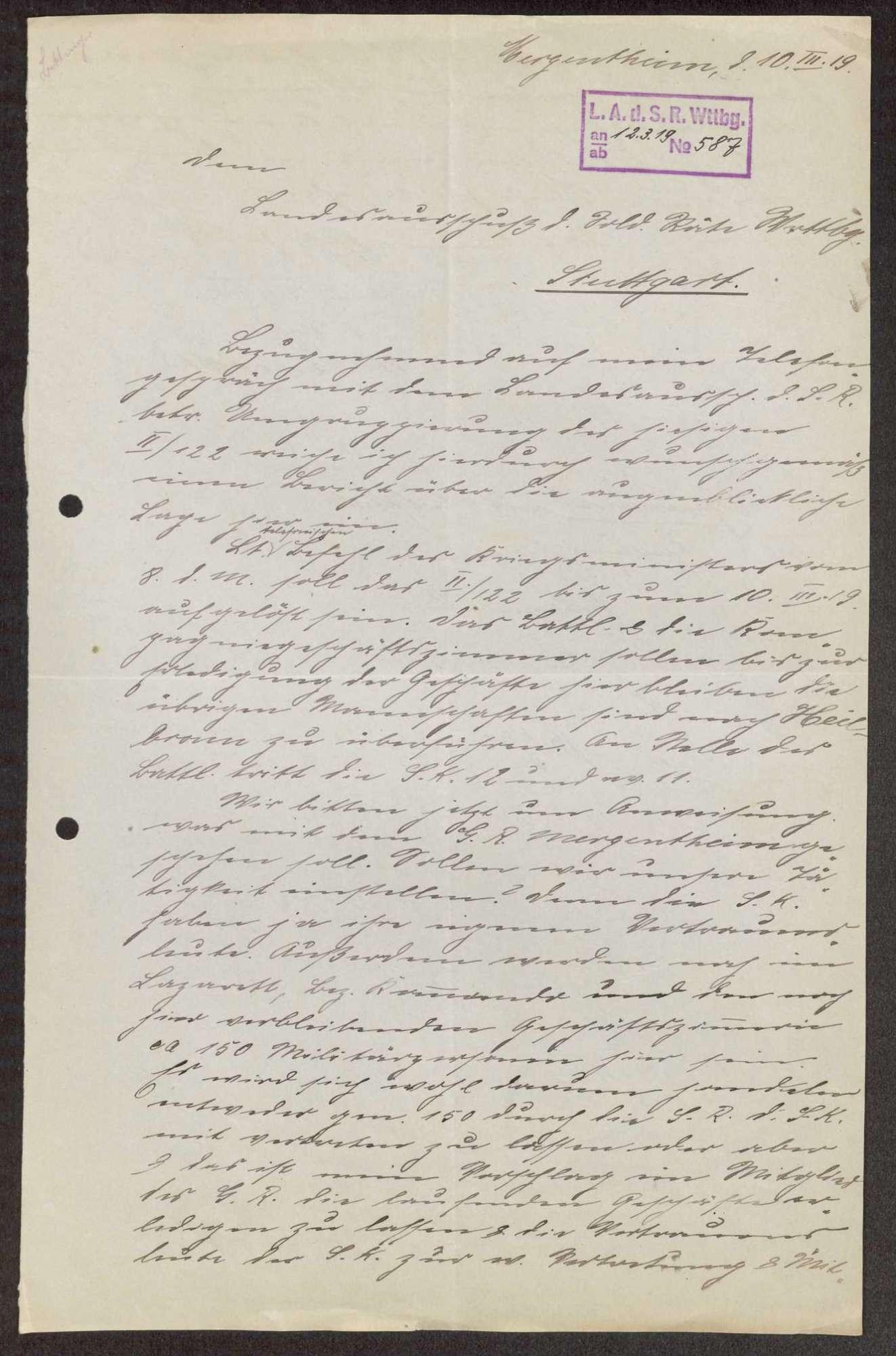 Garnisonsrat Mergentheim: Zusammensetzung, Ausweis, Aufhebung, Bild 1