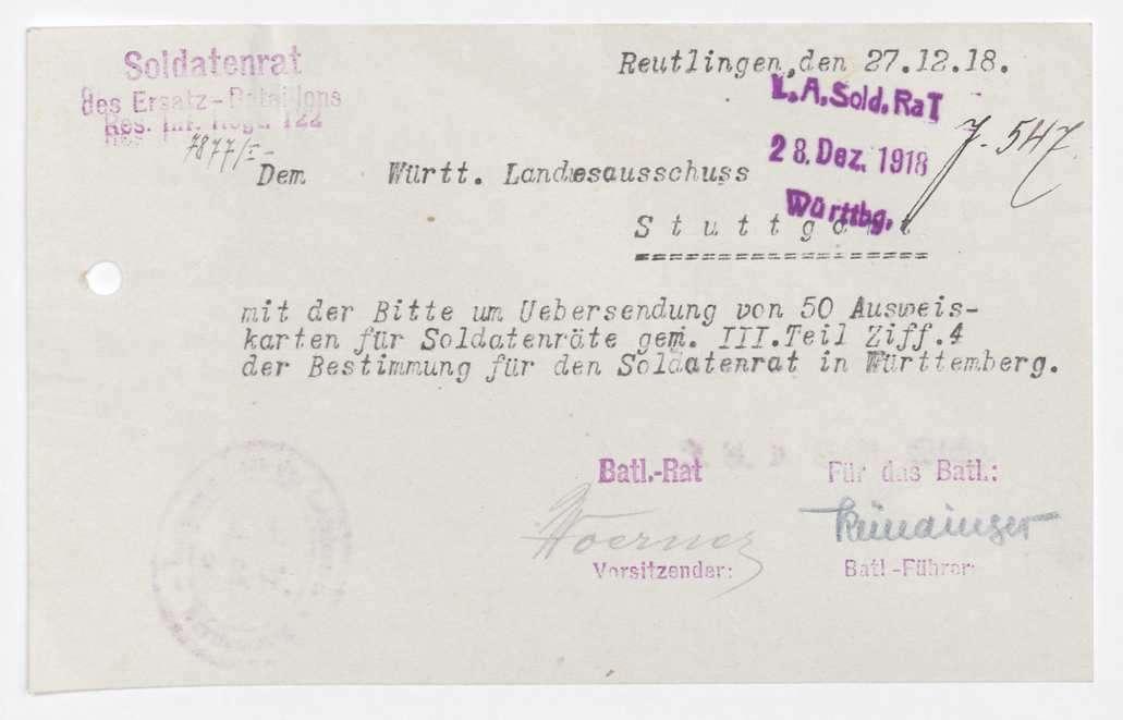 Garnisonsrat Reutlingen: Zusammensetzung, Unterstellung der Garnison Tübingen, Bild 2