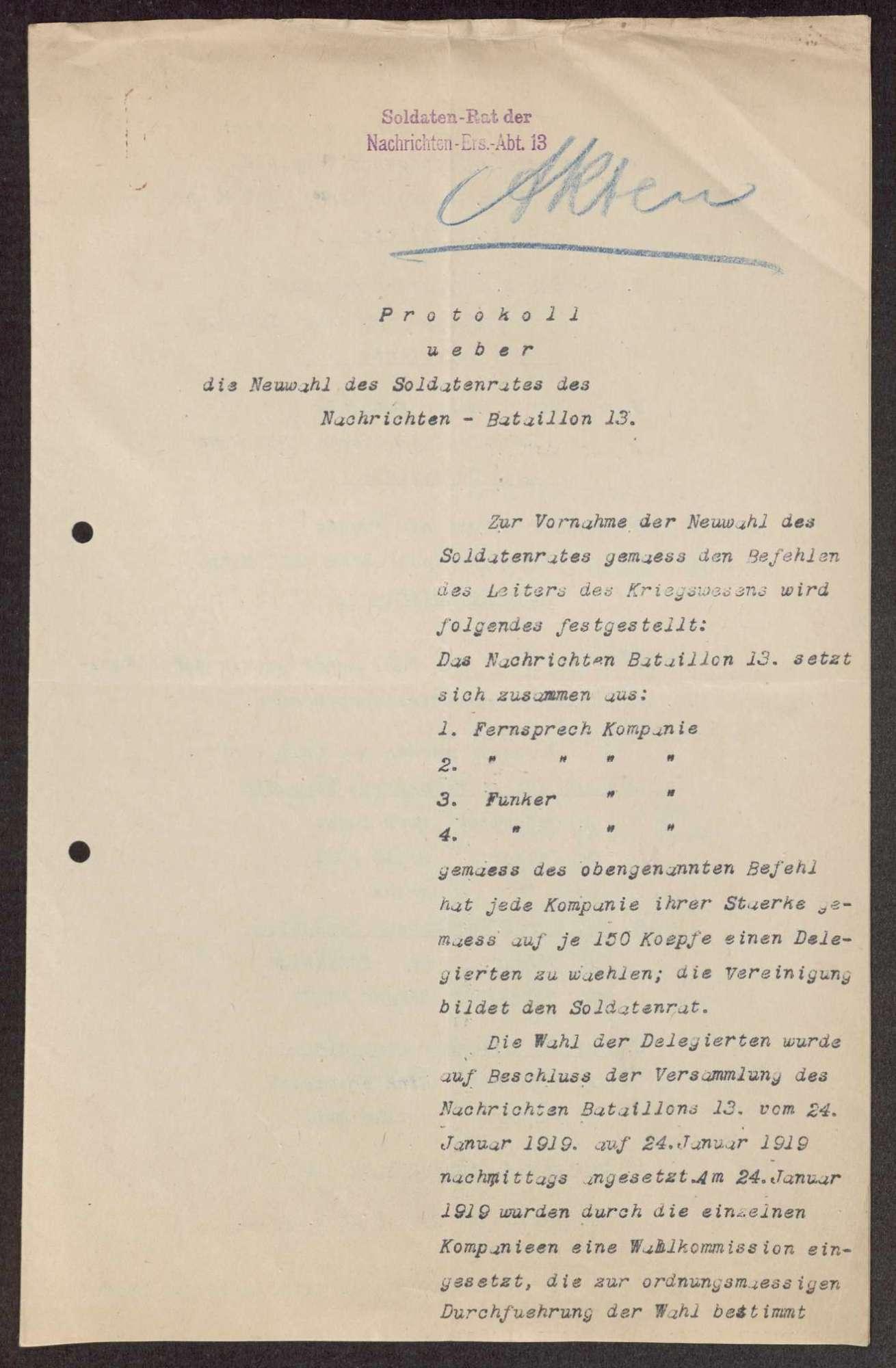 Garnisonsrat Vaihingen auf den Fildern: Wahlen und Zusammensetzung, Aufhebung, Bild 1