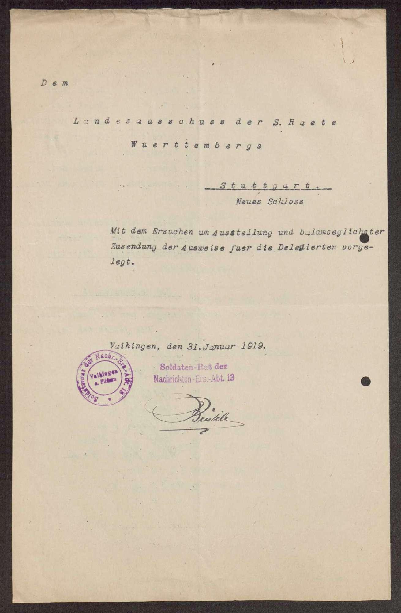 Garnisonsrat Vaihingen auf den Fildern: Wahlen und Zusammensetzung, Aufhebung, Bild 2