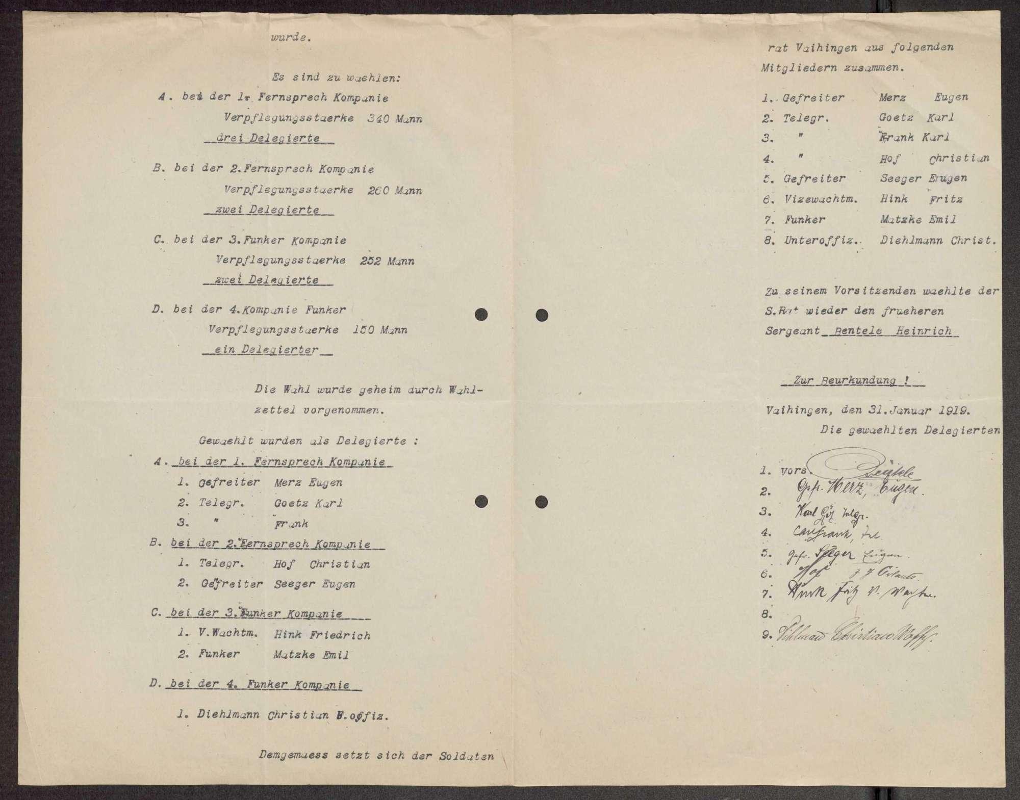 Garnisonsrat Vaihingen auf den Fildern: Wahlen und Zusammensetzung, Aufhebung, Bild 3