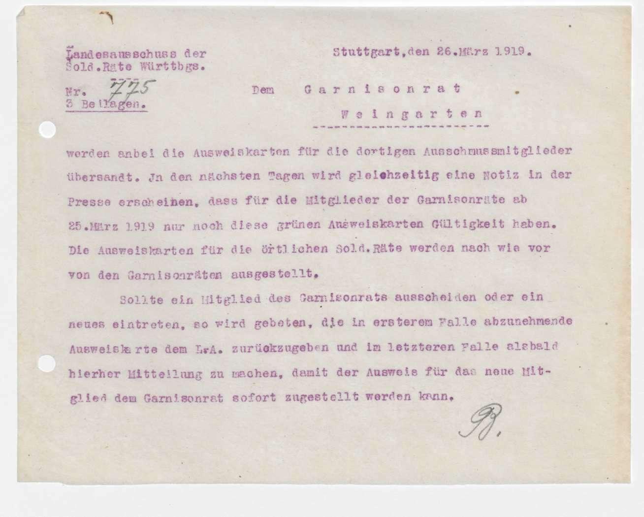 Garnisonsrat Weingarten: Wahlen und Zusammensetzung, Ausweis, Unterstellung von Isny, Leutkirch und Weißenau, Aufhebung, Bild 2