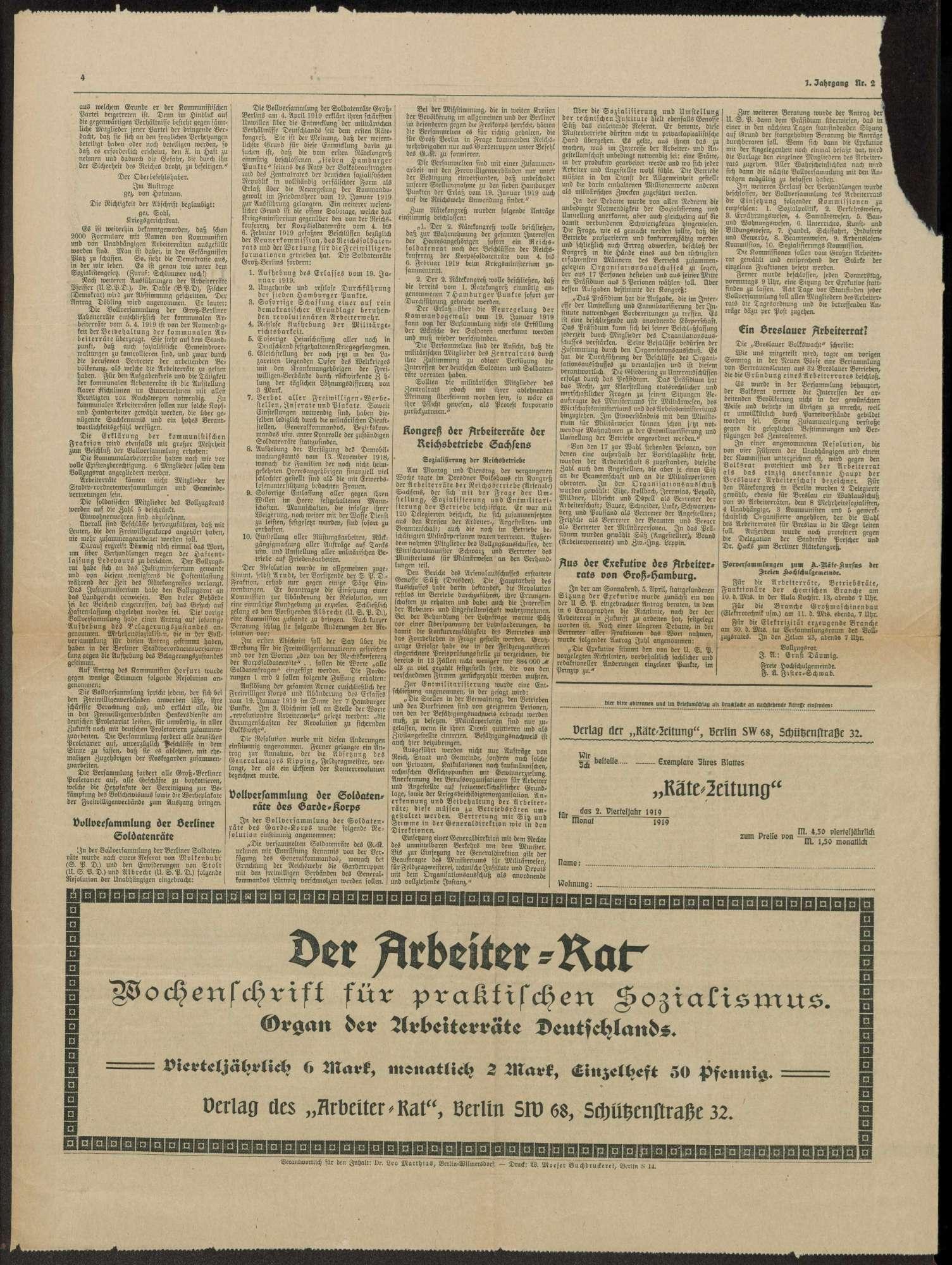 Rätezeitung, Bild 3