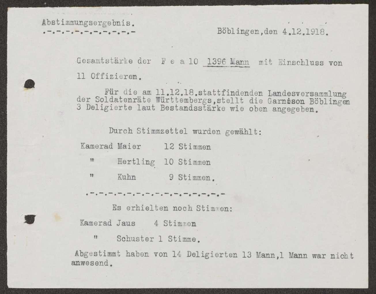 Delegiertenwahl zur Landesversammlung der Soldatenräte, Bild 1