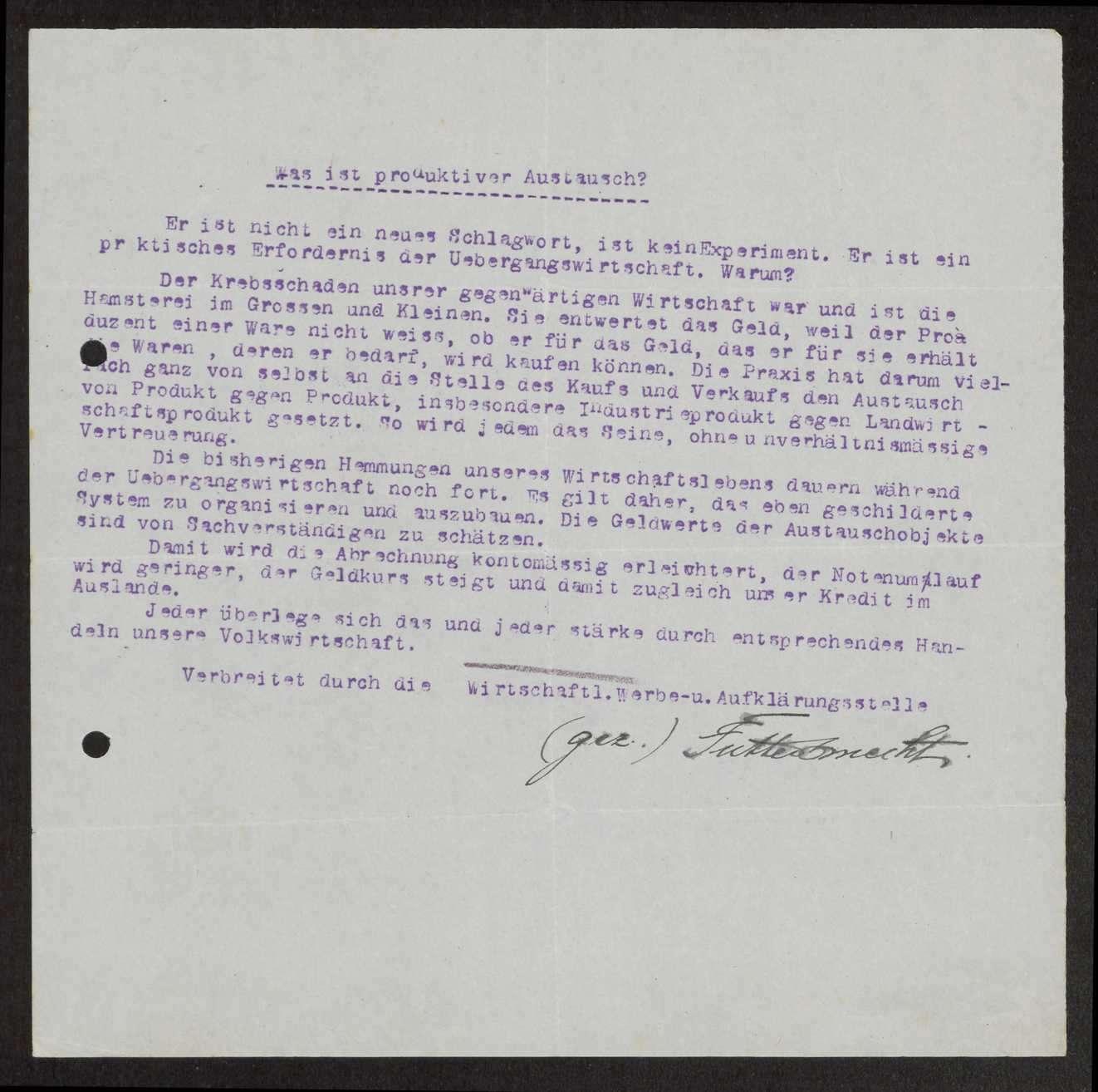 Herausgabe, Übersendung von Flugblättern an den Garnisonrat, Bild 3