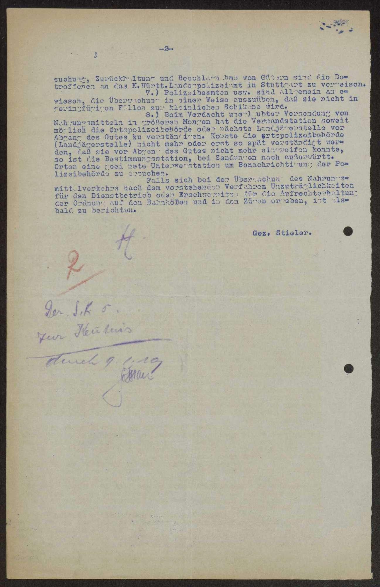 Allgemeine Verfügungen des Kriegsministeriums, Generalkommandos und anderer Stellen, Bild 2