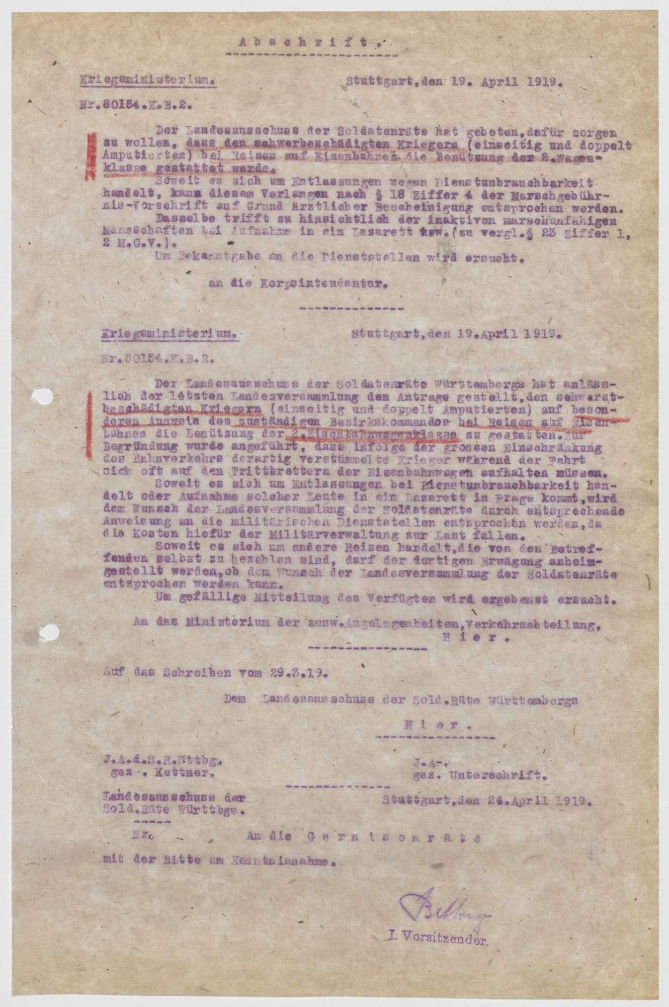 Verfügungen zugunsten Kriegsbeschädigter, Bild 2