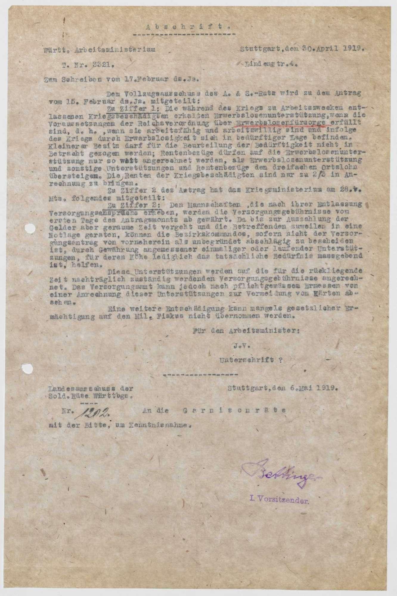Verfügungen zugunsten Kriegsbeschädigter, Bild 3
