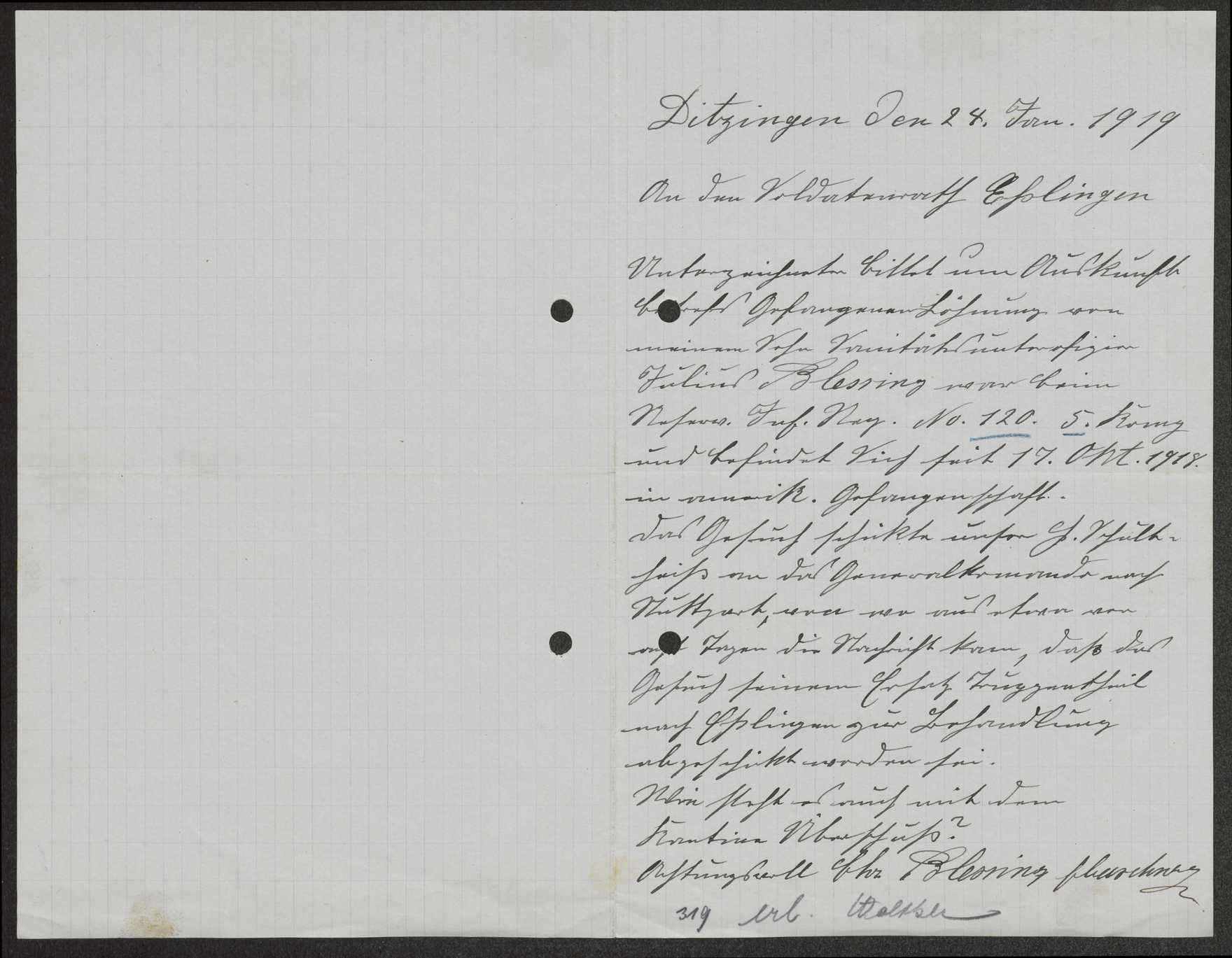 Regelung der Gefangenenlöhnung für einzelne Angehörige des Reserve-Infanterie-Regiments Nr. 120, Bild 2