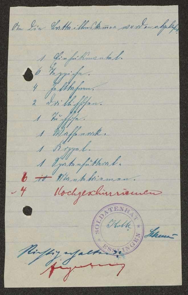 Abgabe durch und Übersendung von Kleidungsstücken an die Bekleidungsstelle des Reserve-Infanterie-Regiments Nr. 120, Bild 3